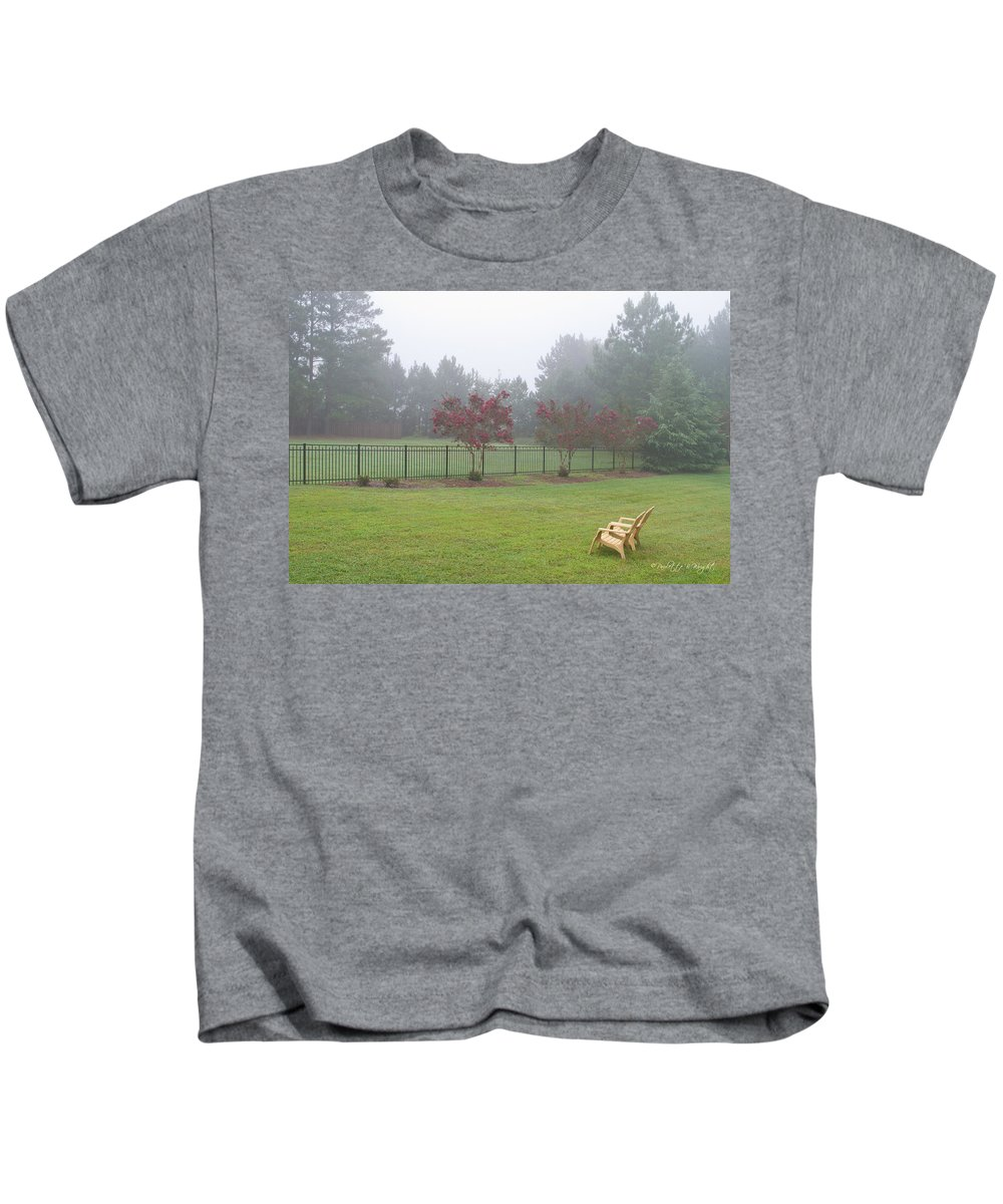 Nature Kids T-Shirt featuring the photograph Two Yellow Chairs by Paulette B Wright