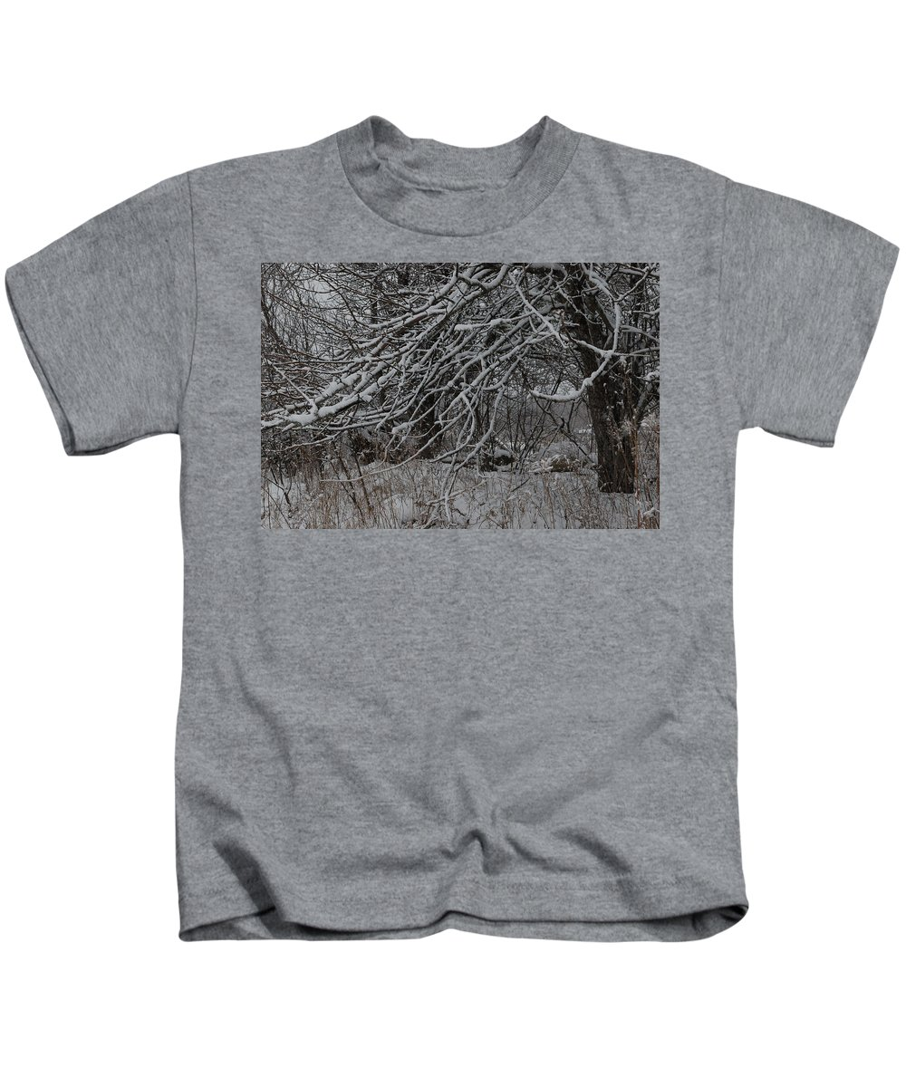 Tree Kids T-Shirt featuring the photograph Under The Old Apple Tree by Susan Capuano