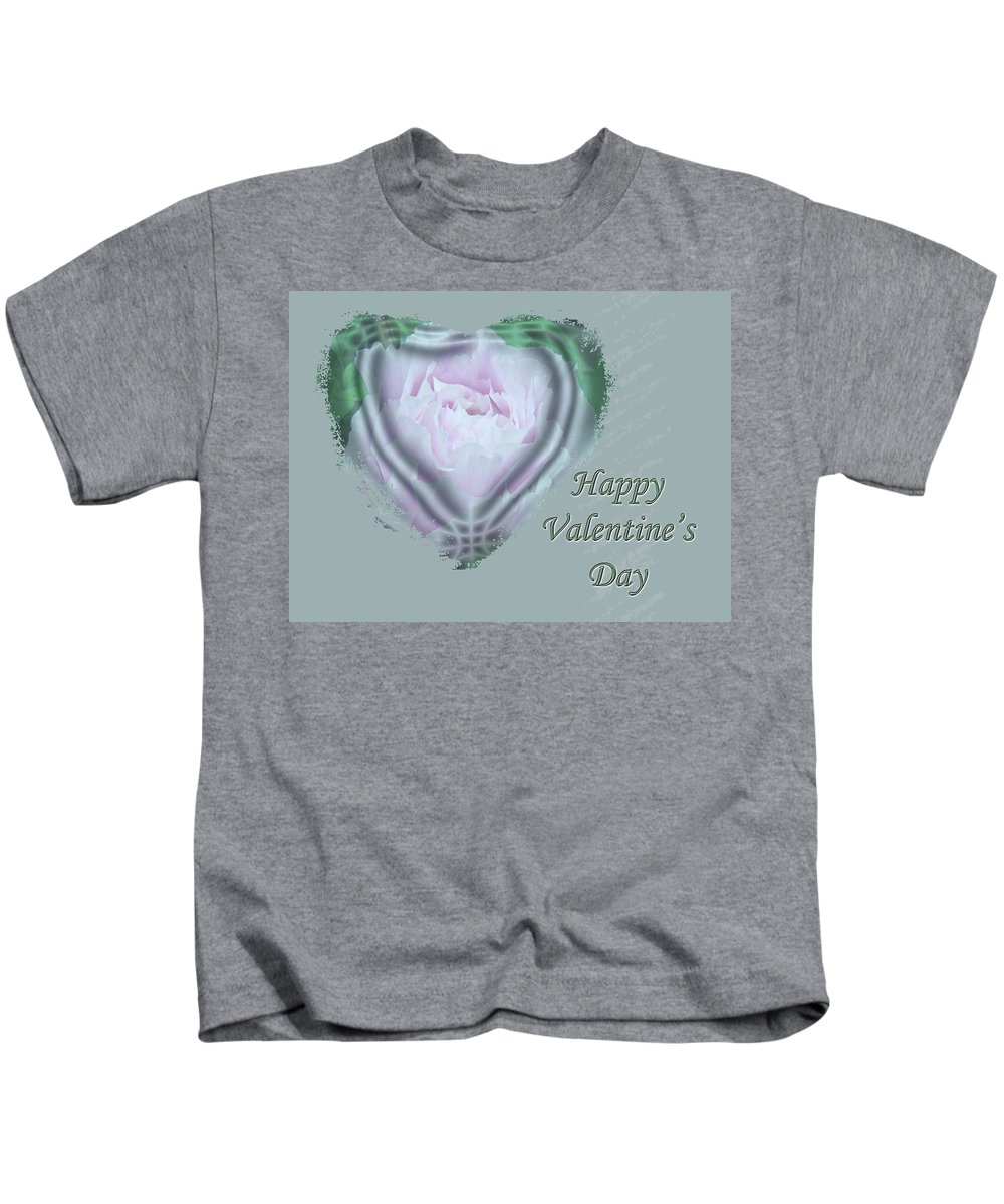 Valentine Kids T-Shirt featuring the photograph Valentine Pink Tree Peony by Mother Nature
