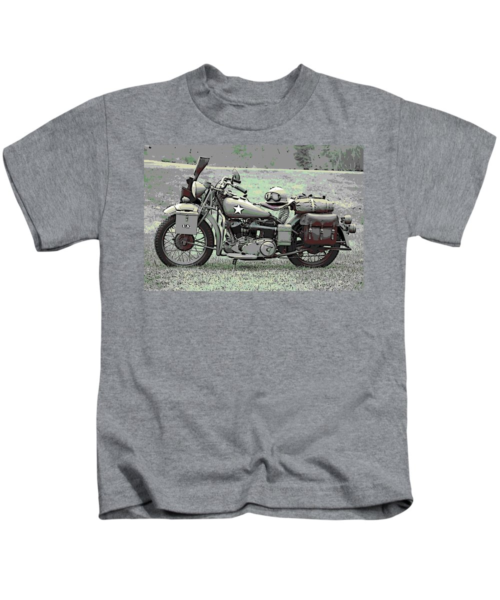 Vintage Kids T-Shirt featuring the photograph Vintage Iron by George Pedro