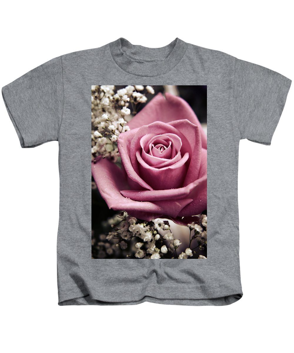 Rose Kids T-Shirt featuring the photograph Vintage Rose by Vicki Field