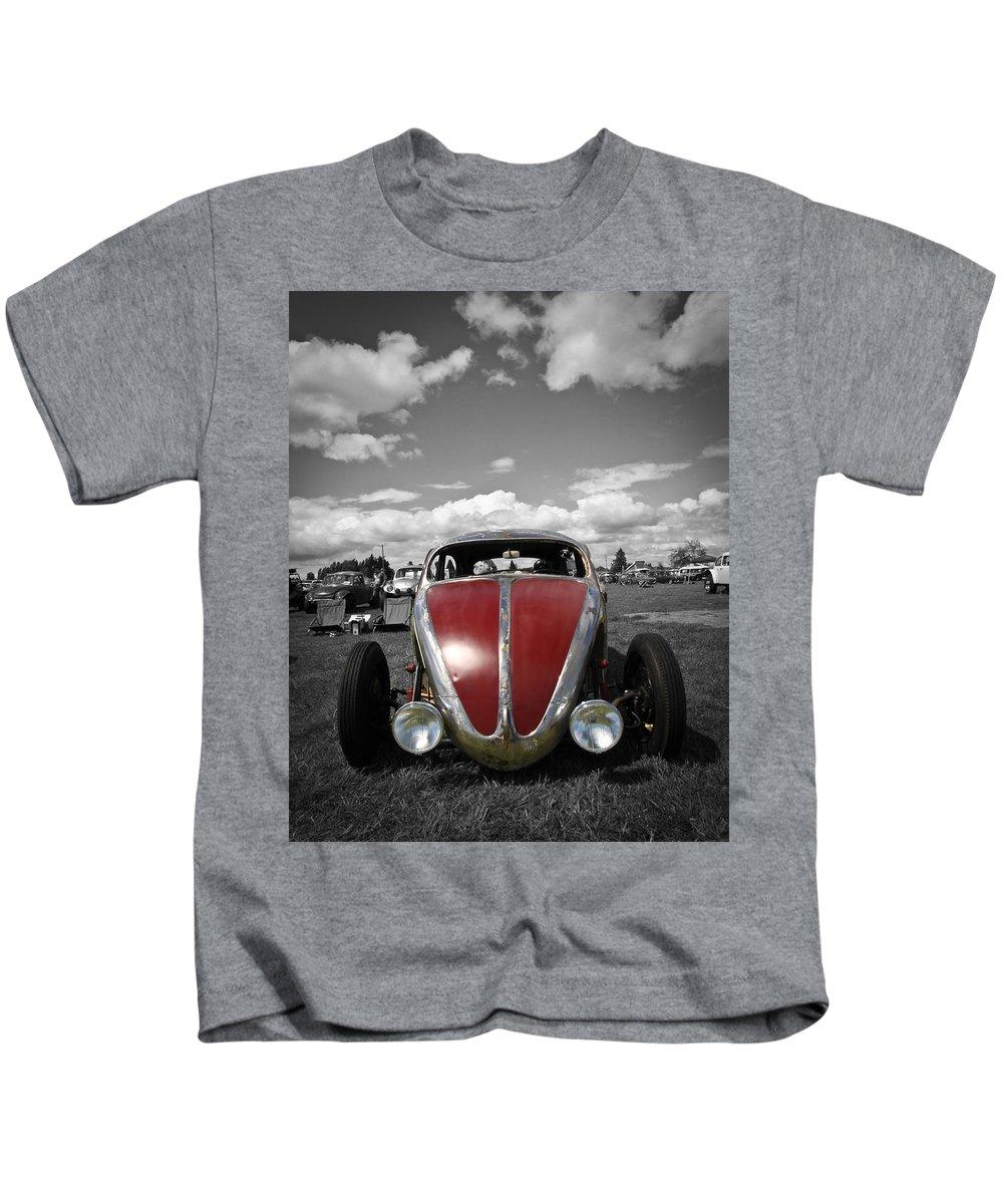 Vw Bug Kids T-Shirt featuring the photograph Vw Rat by Steve McKinzie