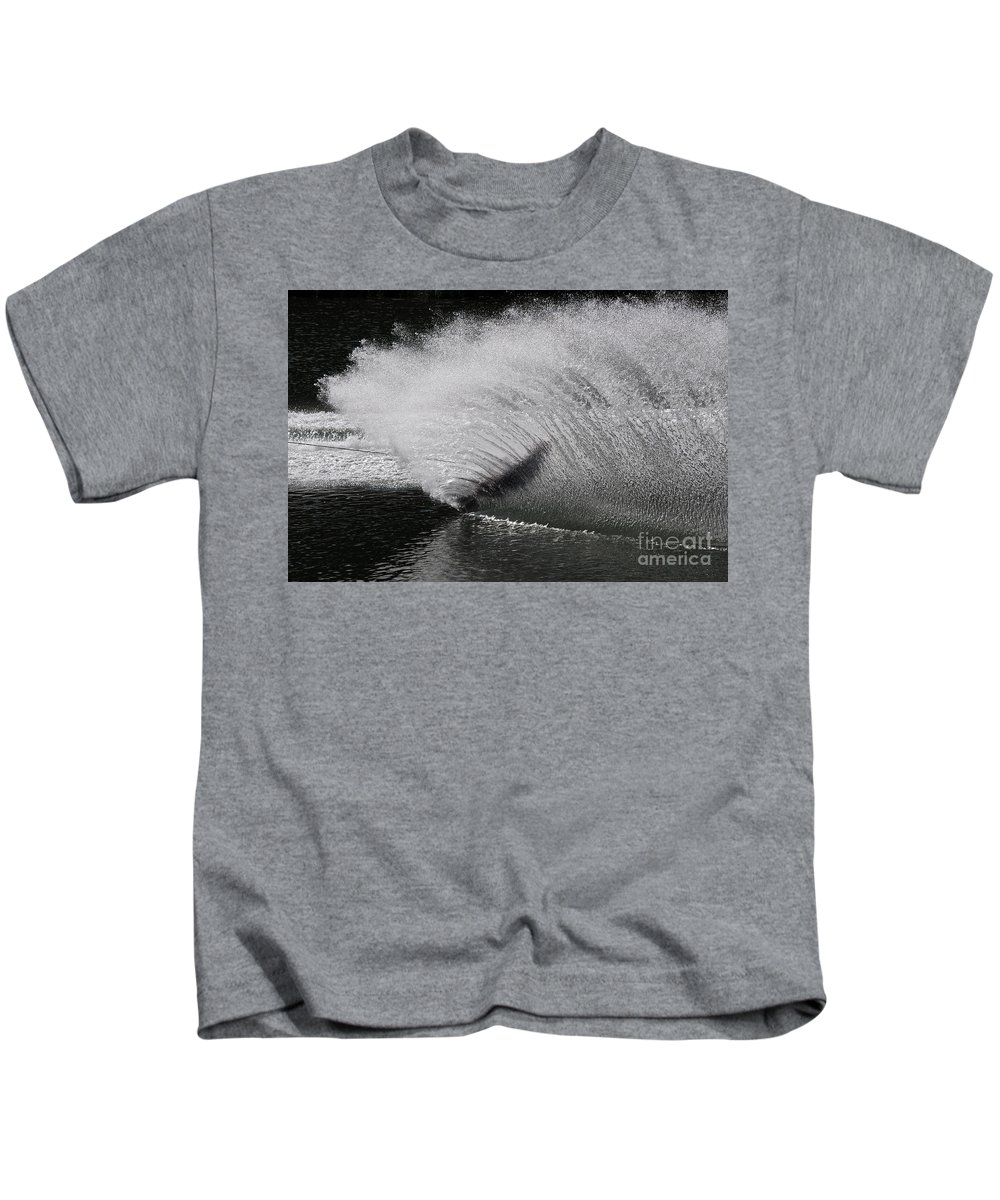 Water Skiing Kids T-Shirt featuring the photograph Water Skiing 5 by Vivian Christopher