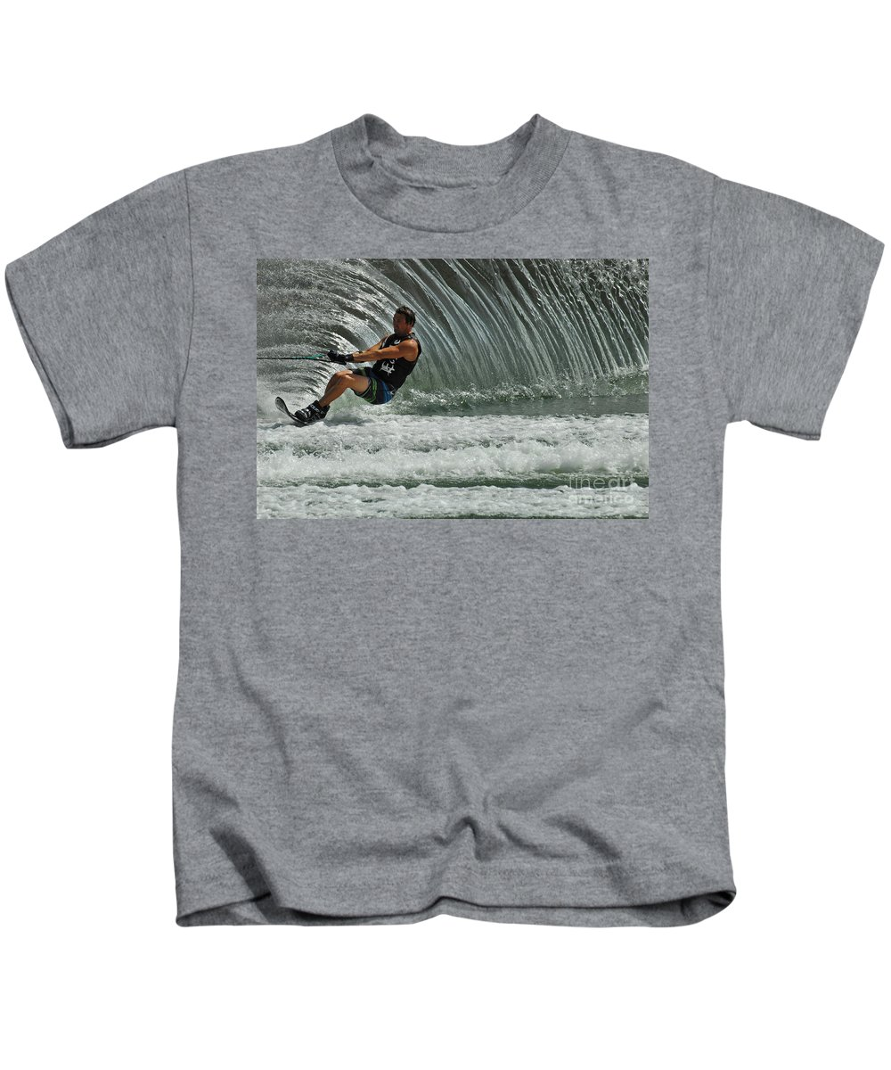 Water Skiing Kids T-Shirt featuring the photograph Water Skiing Magic Of Water 3 by Bob Christopher