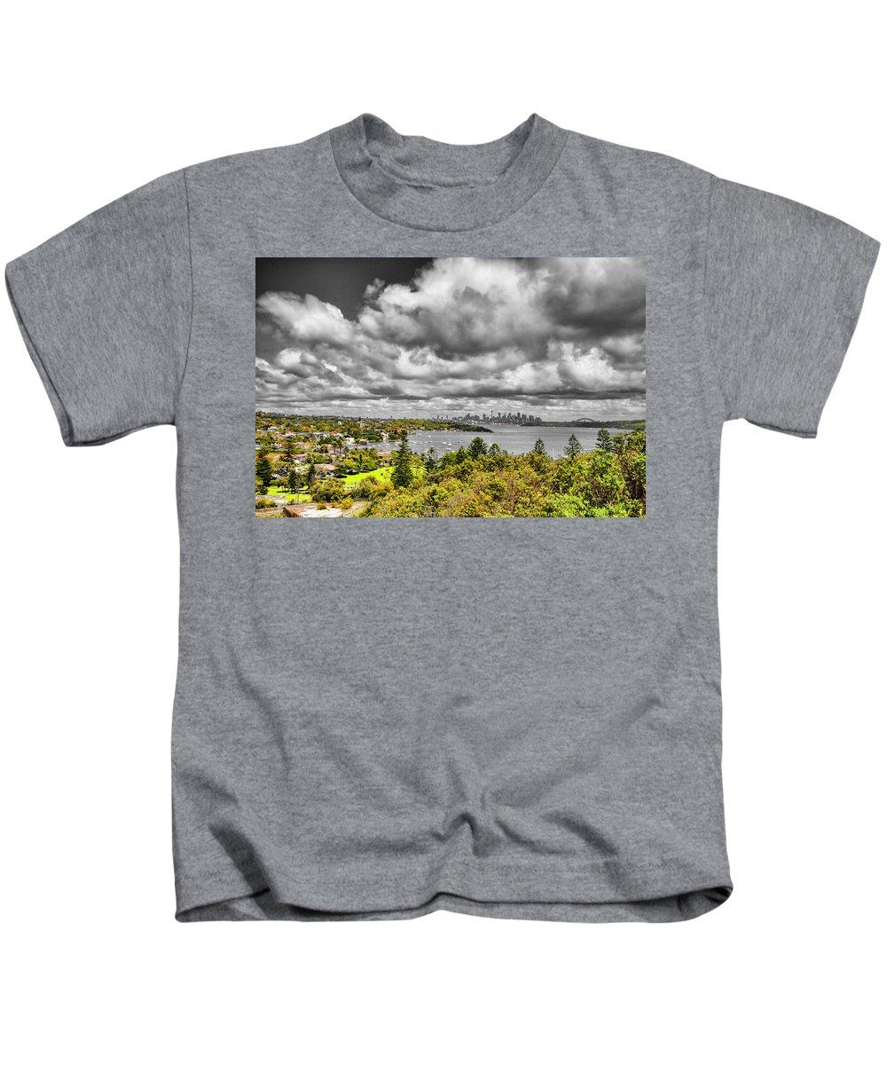 Watson Bay Kids T-Shirt featuring the photograph Watson Bay Sydney Harbor by Douglas Barnard