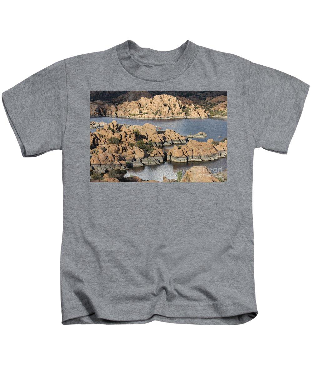 Watson Lake Kids T-Shirt featuring the photograph Watson Lake 4 by Diane Greco-Lesser