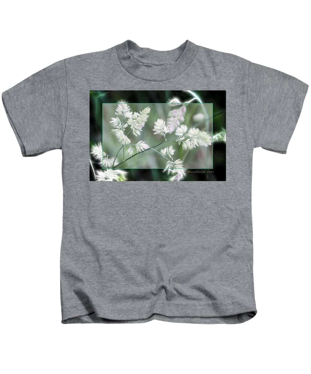 Weeds Kids T-Shirt featuring the photograph Weeds by Ericamaxine Price