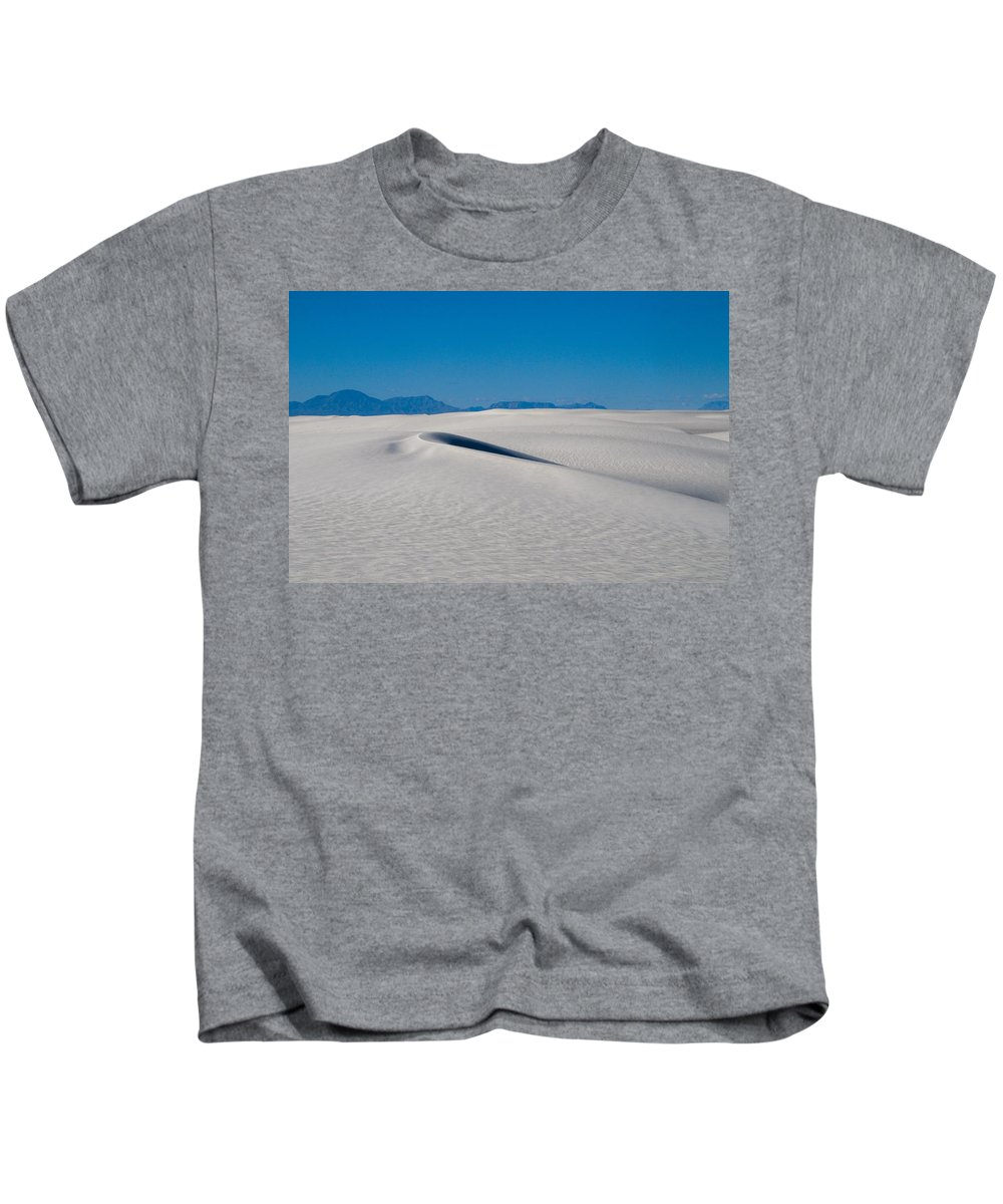 New Mexico Kids T-Shirt featuring the photograph White Sands 1 by Sean Wray