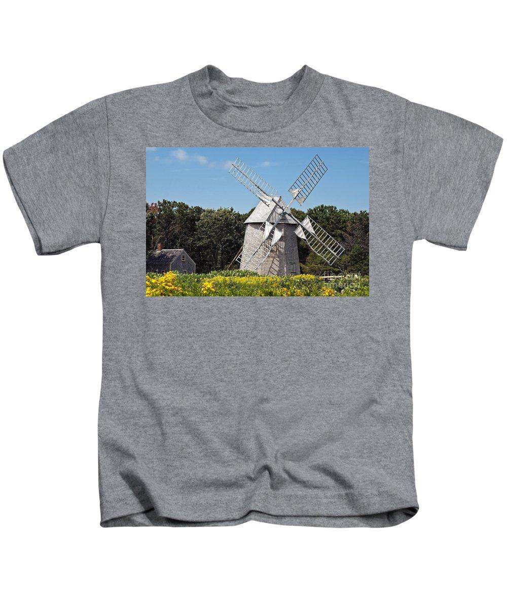 drummer Boy Park Kids T-Shirt featuring the photograph Windmill by John Greim