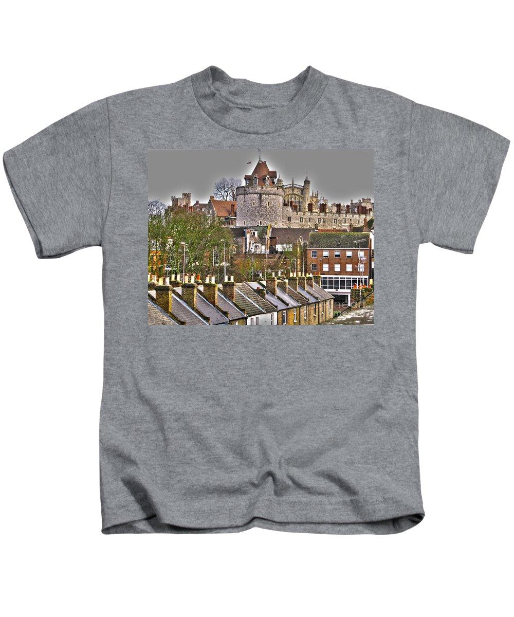 Windsor Castle Kids T-Shirt featuring the photograph Windsor Castle by Jack Schultz