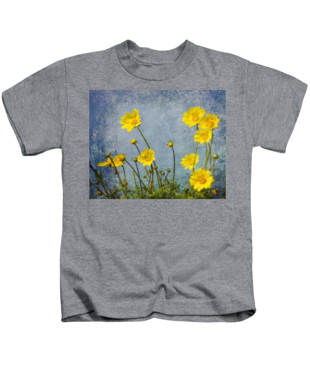 Art Kids T-Shirt featuring the photograph Yellow Flower Blossoms by Randall Nyhof