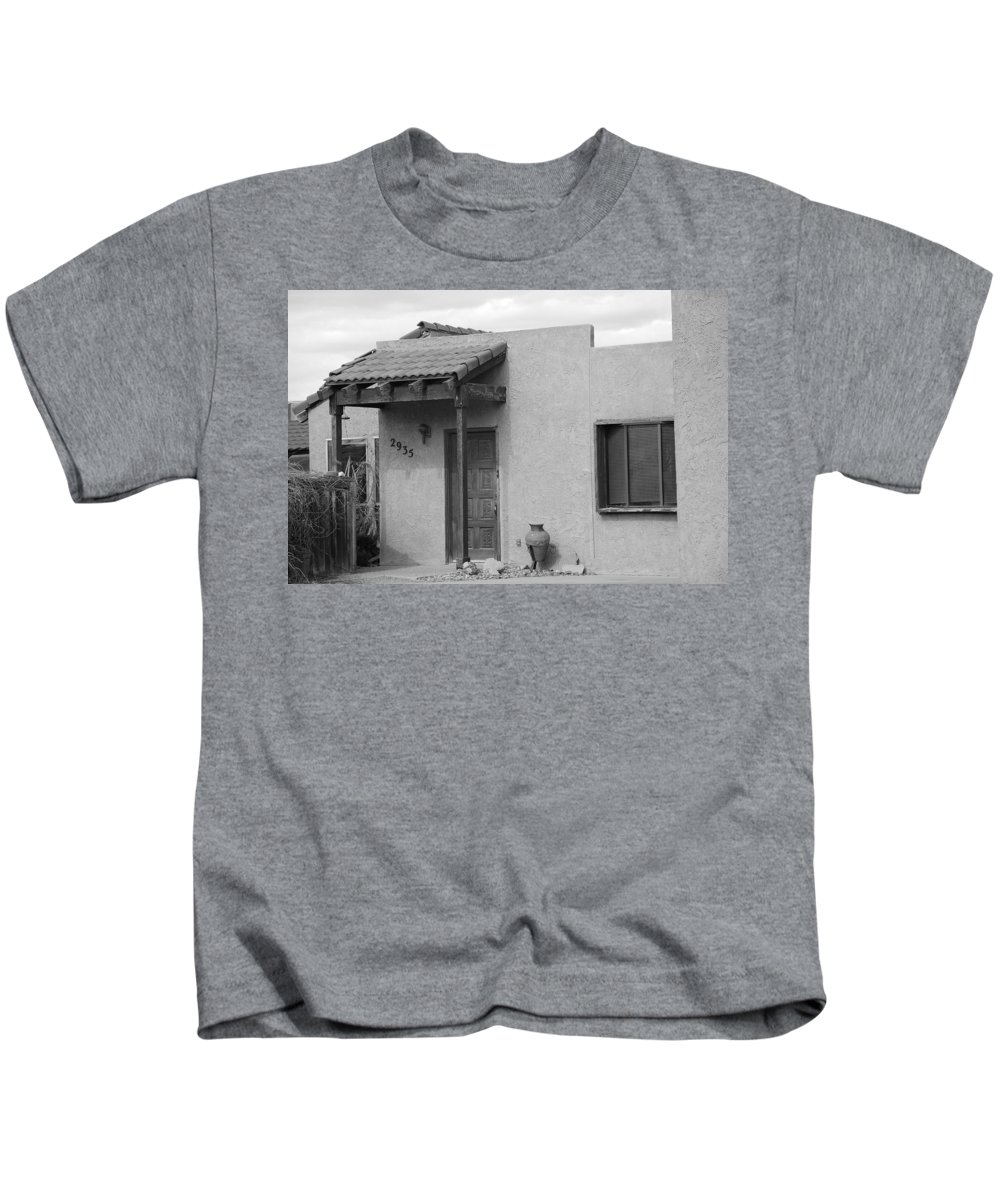 Architecture Kids T-Shirt featuring the photograph Adobe House by Rob Hans