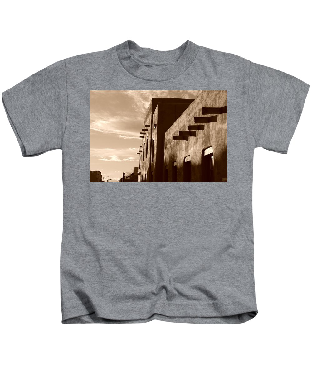 Architecture Kids T-Shirt featuring the photograph Adobe Sunset by Rob Hans