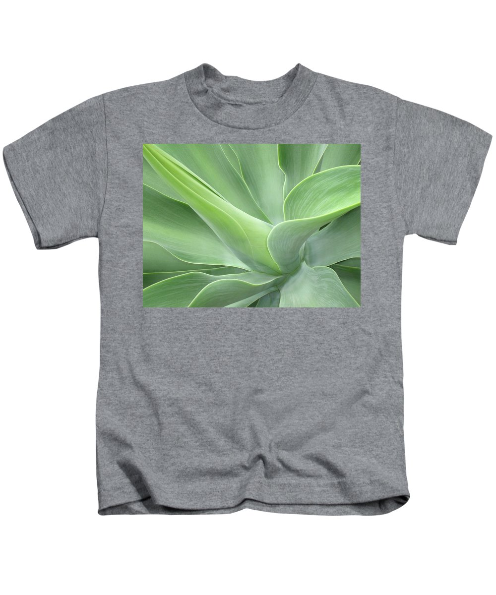 Agave Kids T-Shirt featuring the photograph Agave Attenuata Abstract by Bel Menpes