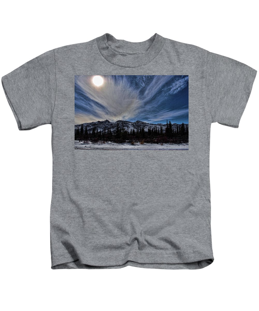 Denali Kids T-Shirt featuring the photograph Alaska Mountains by Galeria Trompiz