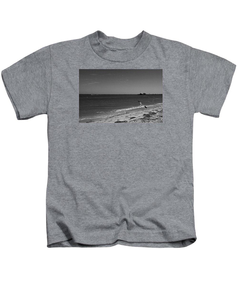 Anna Maria Kids T-Shirt featuring the photograph Anna Maria Shoreline by Michiale Schneider