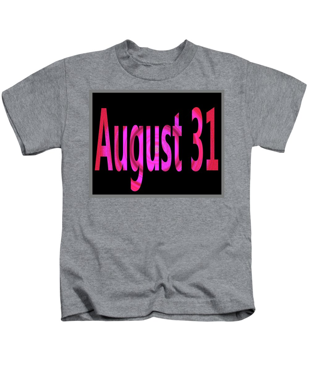 August Kids T-Shirt featuring the digital art August 31 by Day Williams