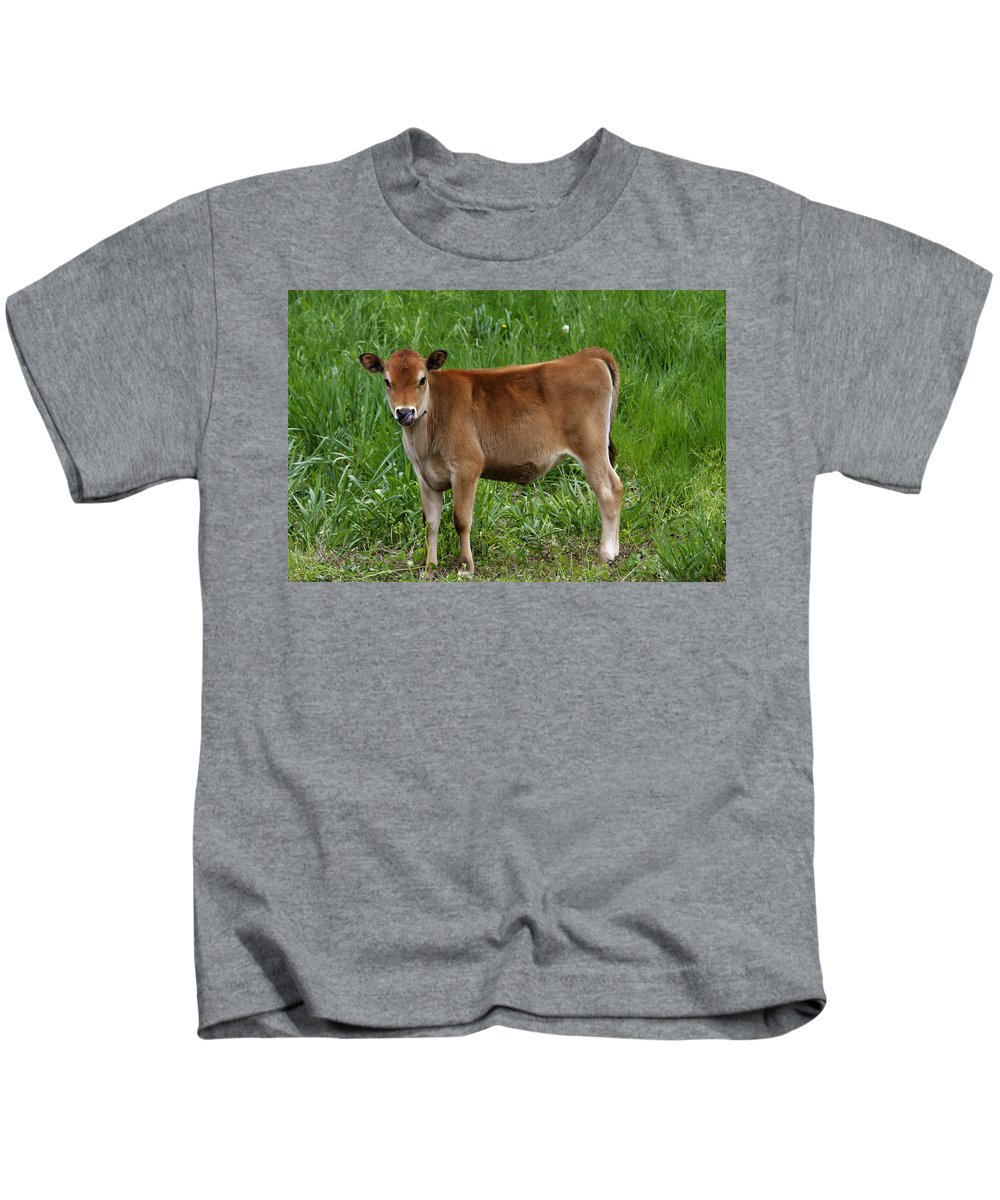 Calf Kids T-Shirt featuring the photograph Baby by Donald Crosby