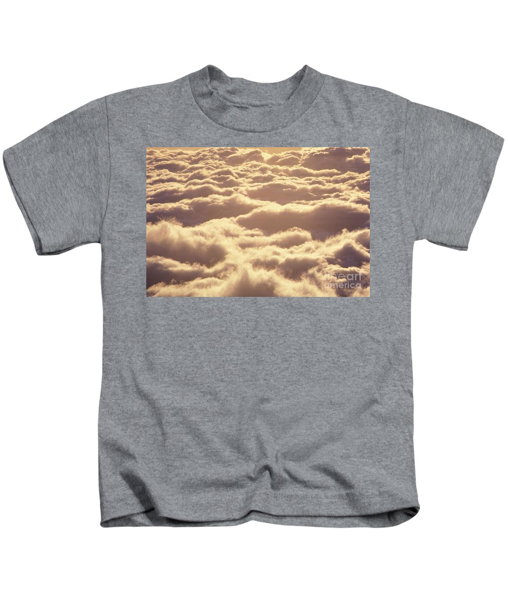 Afternoon Kids T-Shirt featuring the photograph Bed Of Puffy Clouds by Carl Shaneff - Printscapes