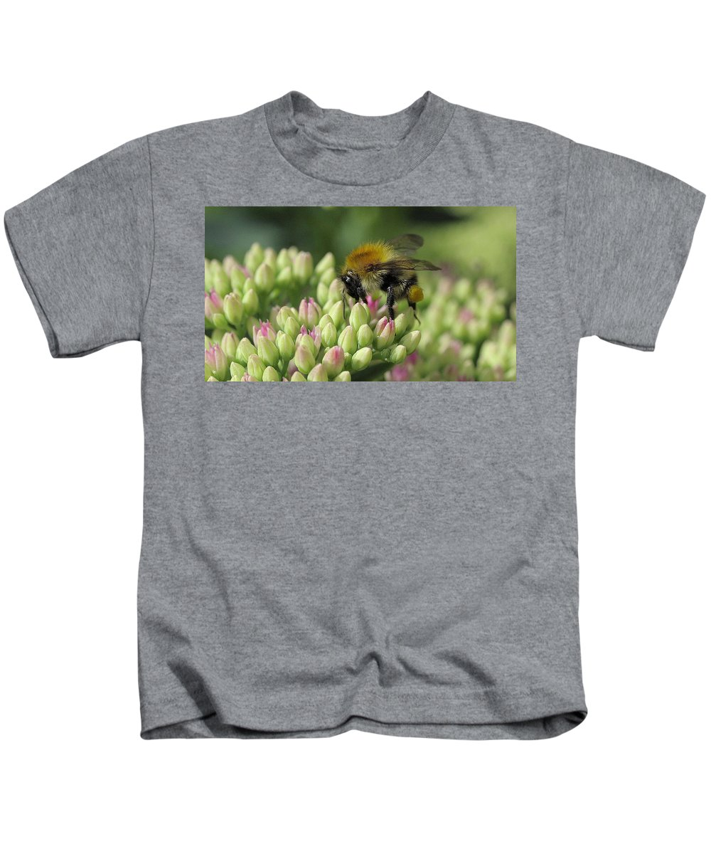 Bee Kids T-Shirt featuring the digital art Bee by Dorothy Binder