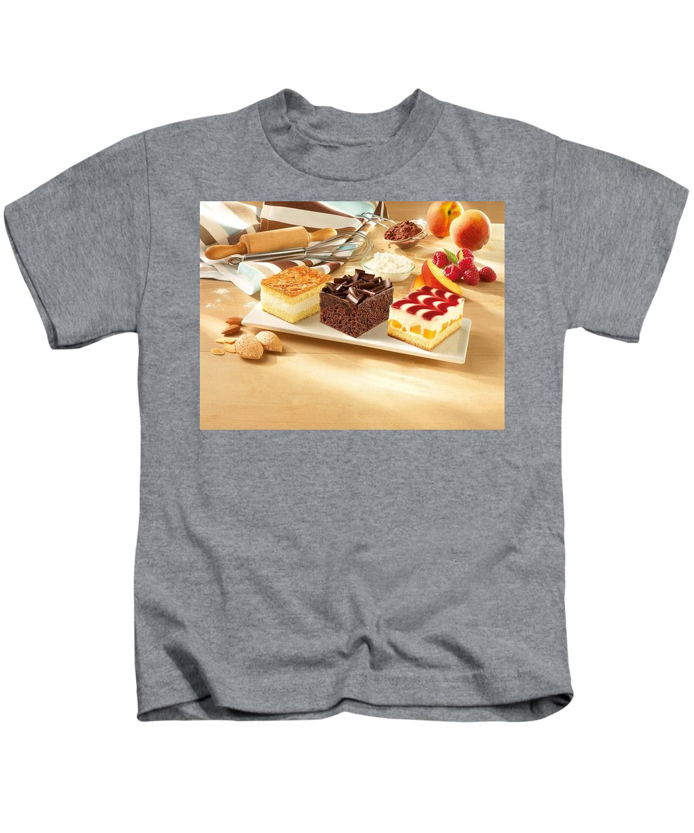 Cake Kids T-Shirt featuring the digital art Cake by Dorothy Binder
