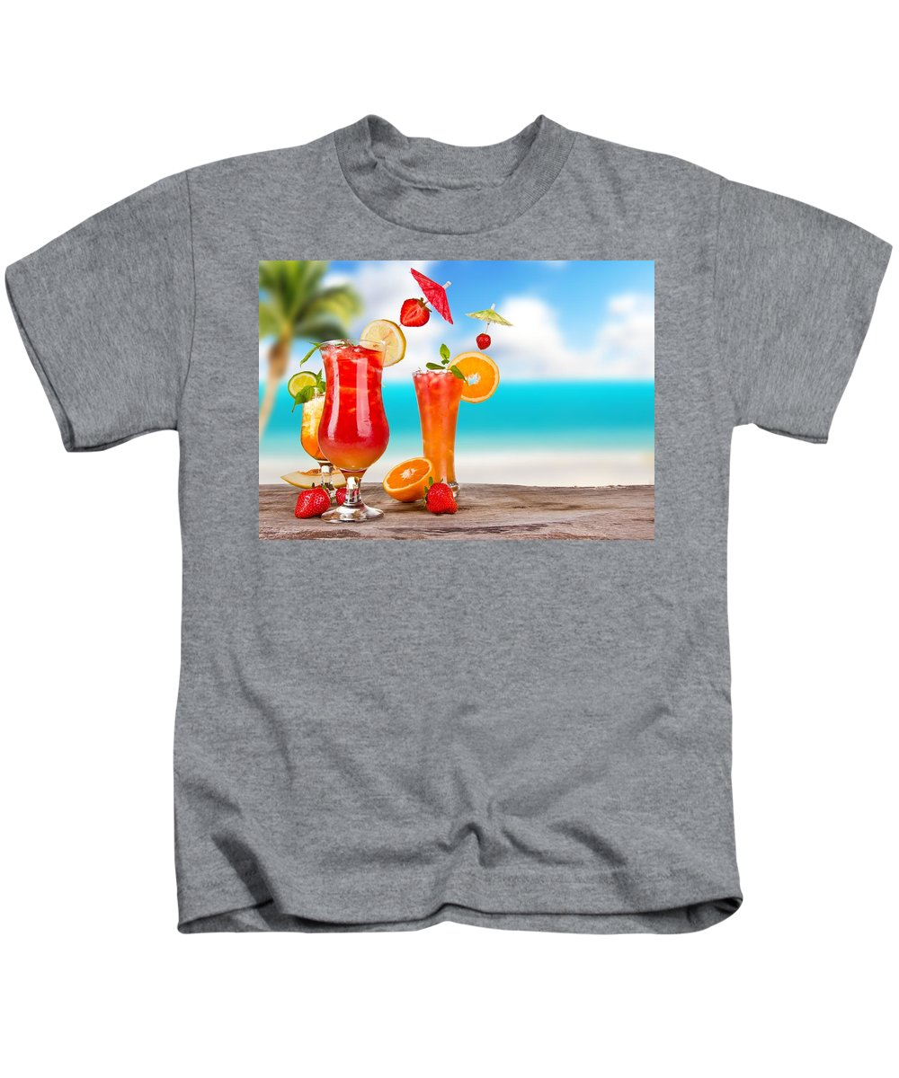 Cocktail Kids T-Shirt featuring the digital art Cocktail by Dorothy Binder