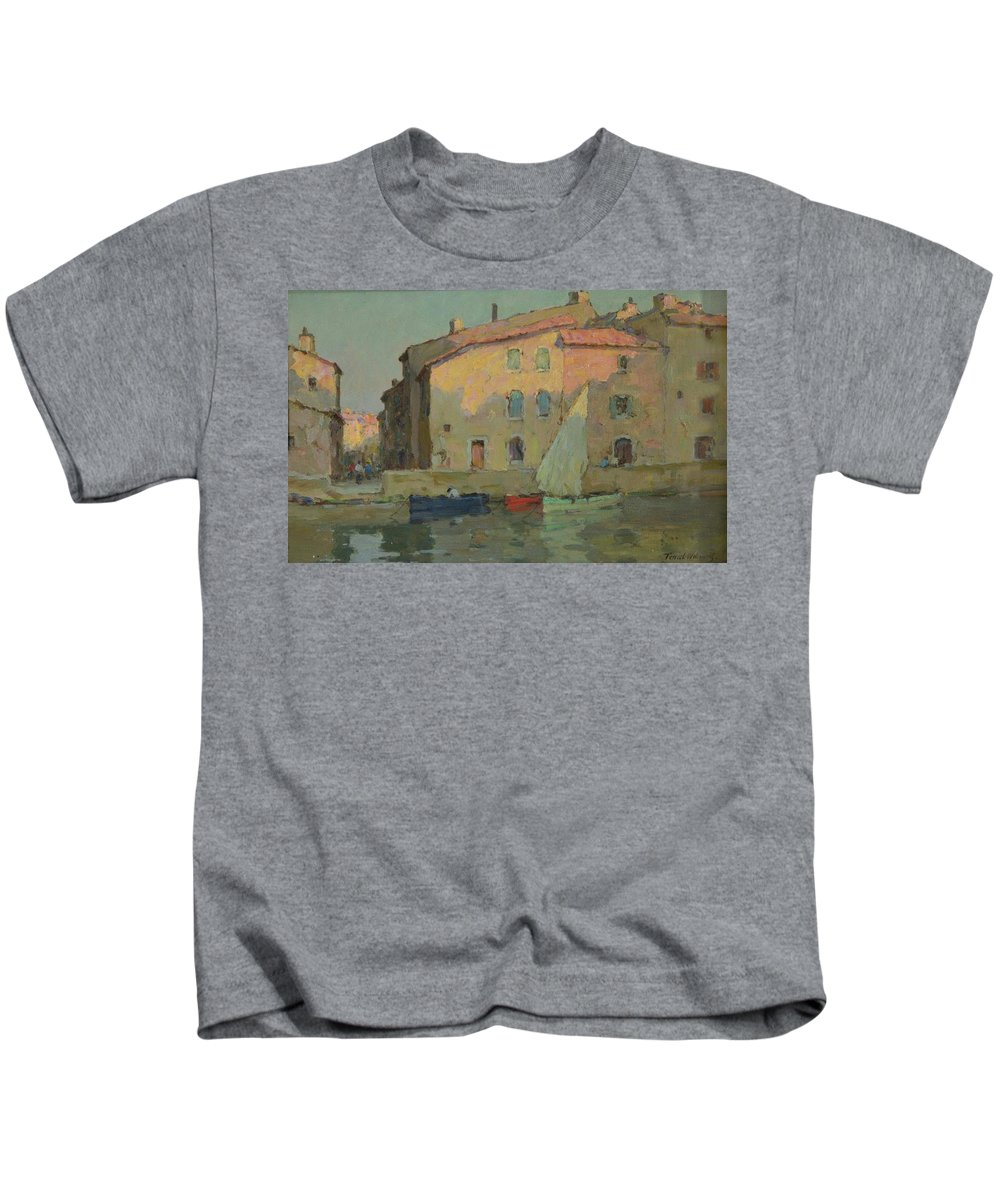 Terrick John Williams (1860-1936) 'evening Kids T-Shirt featuring the painting Evening Martigues by John Williams