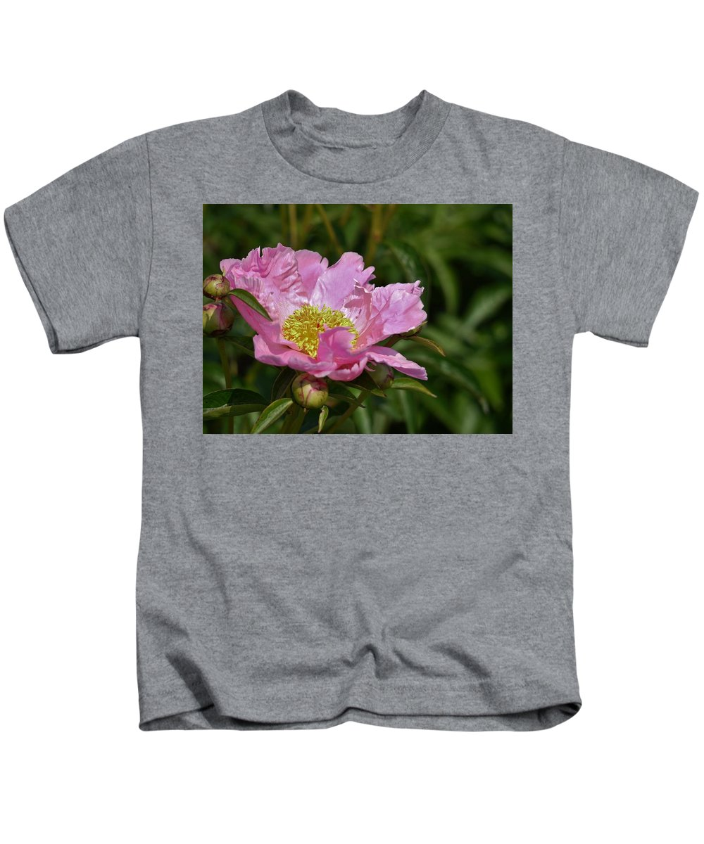 Peony Kids T-Shirt featuring the photograph Flowers by Martha Kinel