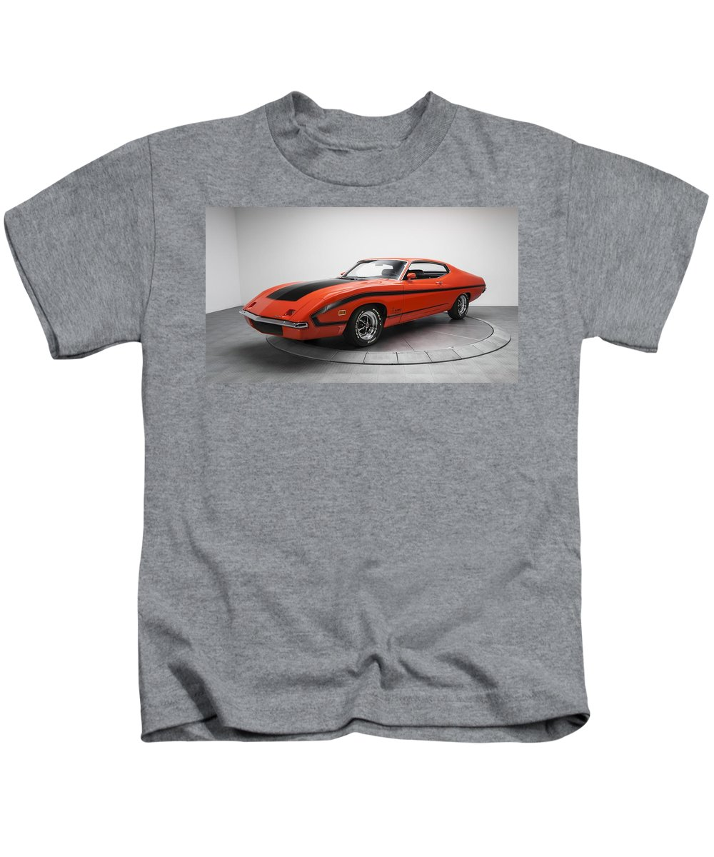 Ford Torino Kids T-Shirt featuring the digital art Ford Torino by Dorothy Binder