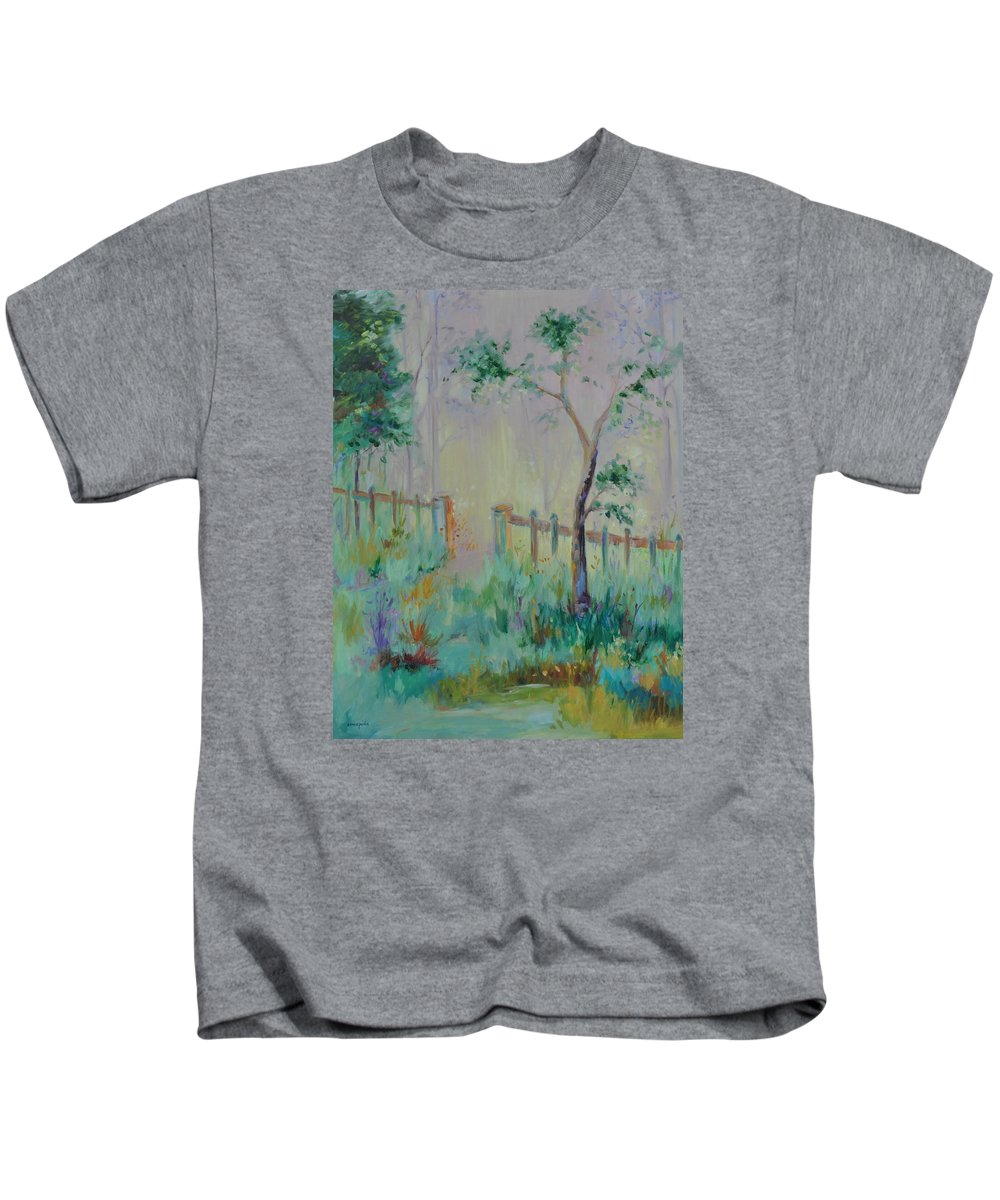Garden Kids T-Shirt featuring the painting Garden and Beyond by Ginger Concepcion