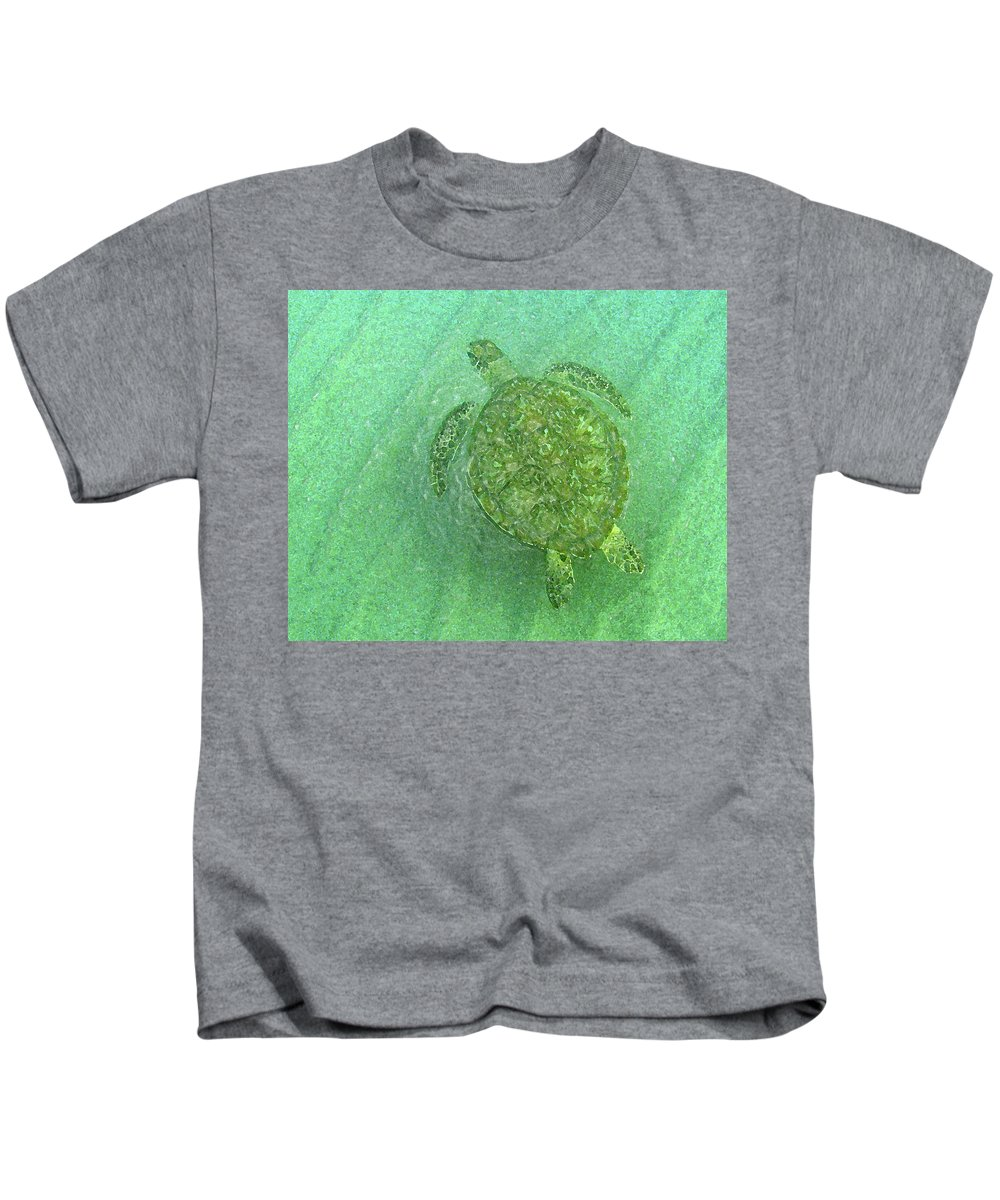 Nature Kids T-Shirt featuring the photograph Gliding Green by Kimberly Mohlenhoff
