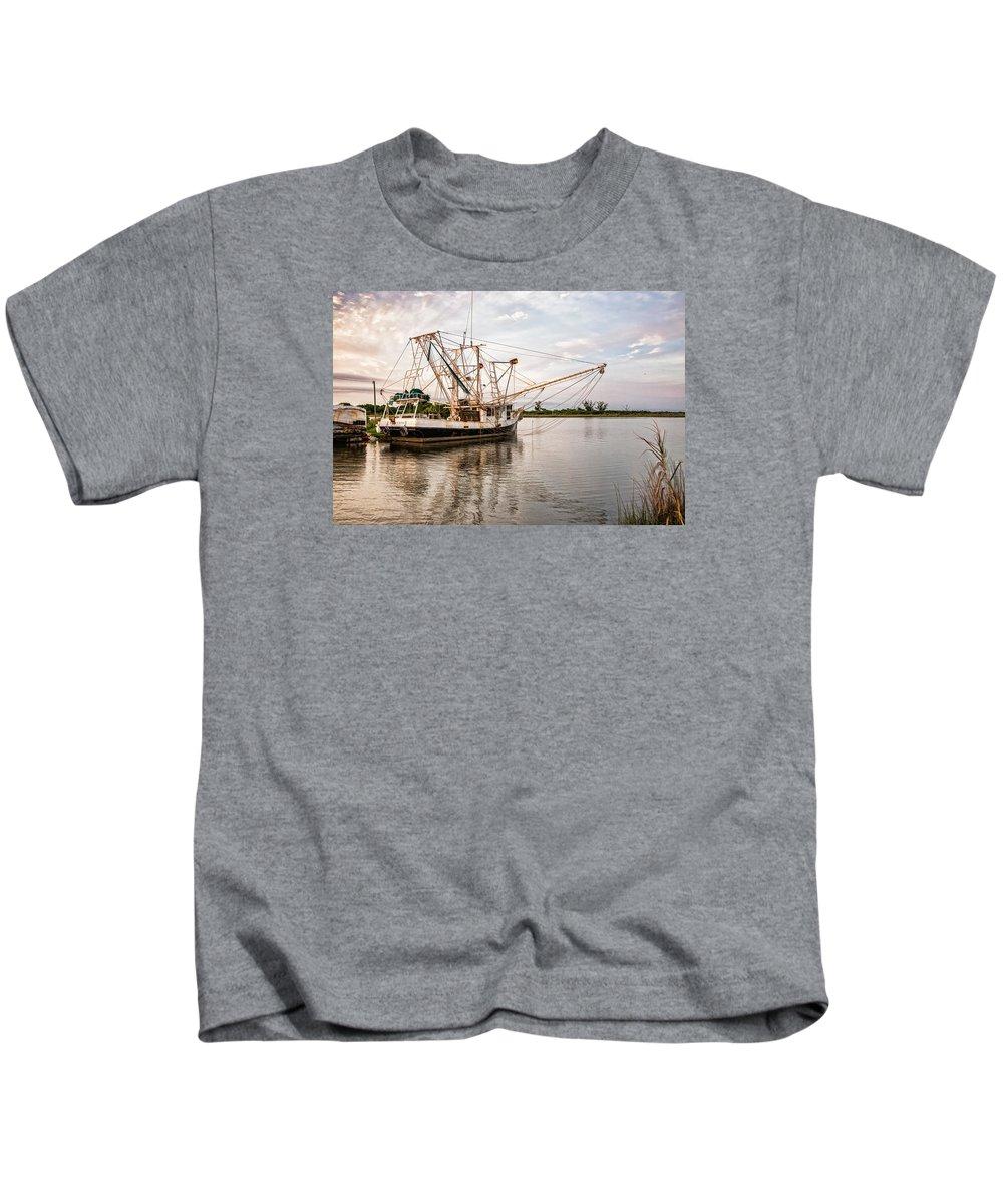 Bayou Lafourche Kids T-Shirt featuring the photograph Golden Meadow, Louisiana by Shane Adams