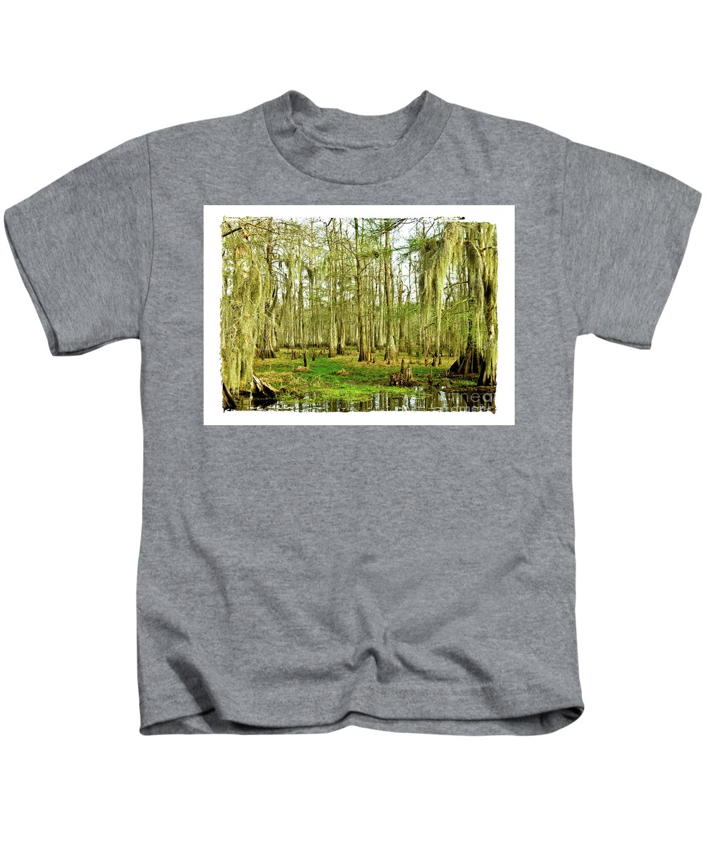 Swamp Kids T-Shirt featuring the photograph Grand Bayou Swamp by Scott Pellegrin