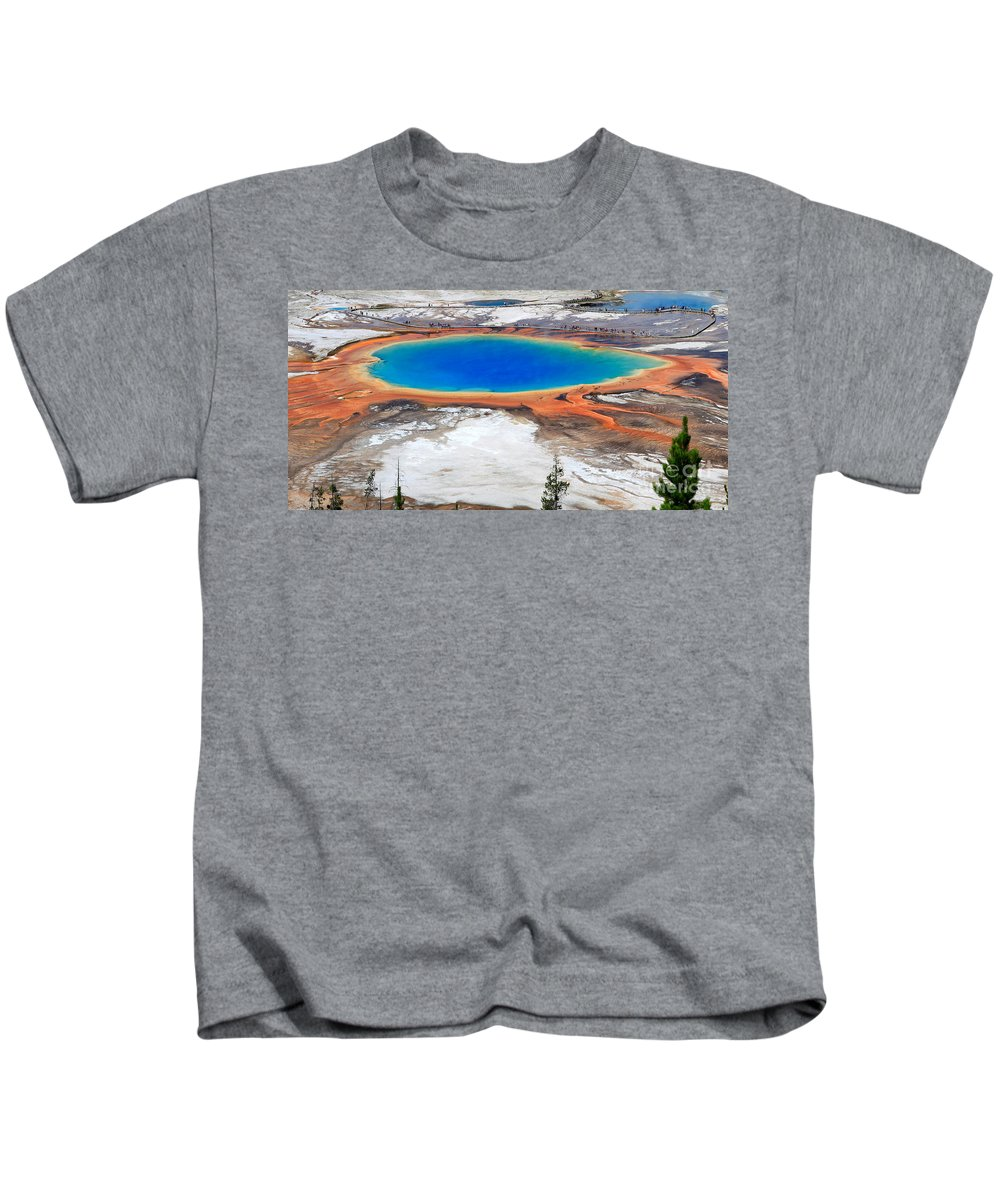 Grand Prismatic Spring Kids T-Shirt featuring the photograph Grand Prismatic Spring by Ted Kinsman