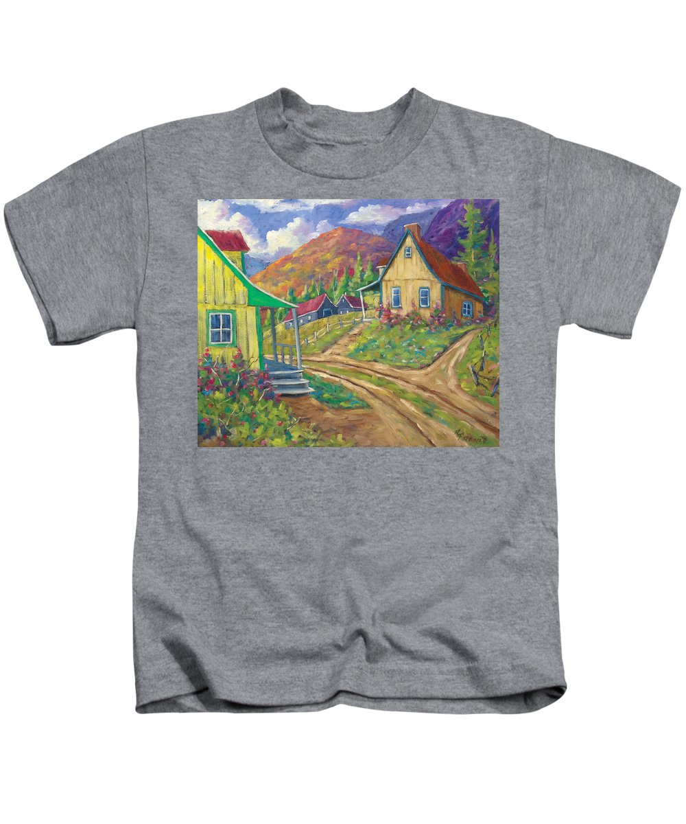 Art Kids T-Shirt featuring the painting House Of Louis by Richard T Pranke