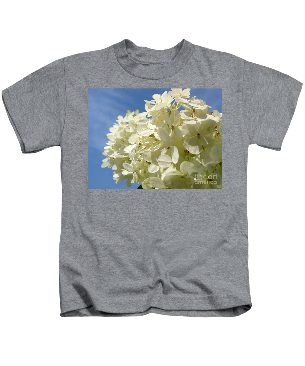 Hydranga Kids T-Shirt featuring the photograph Hydrangea by Amanda Barcon