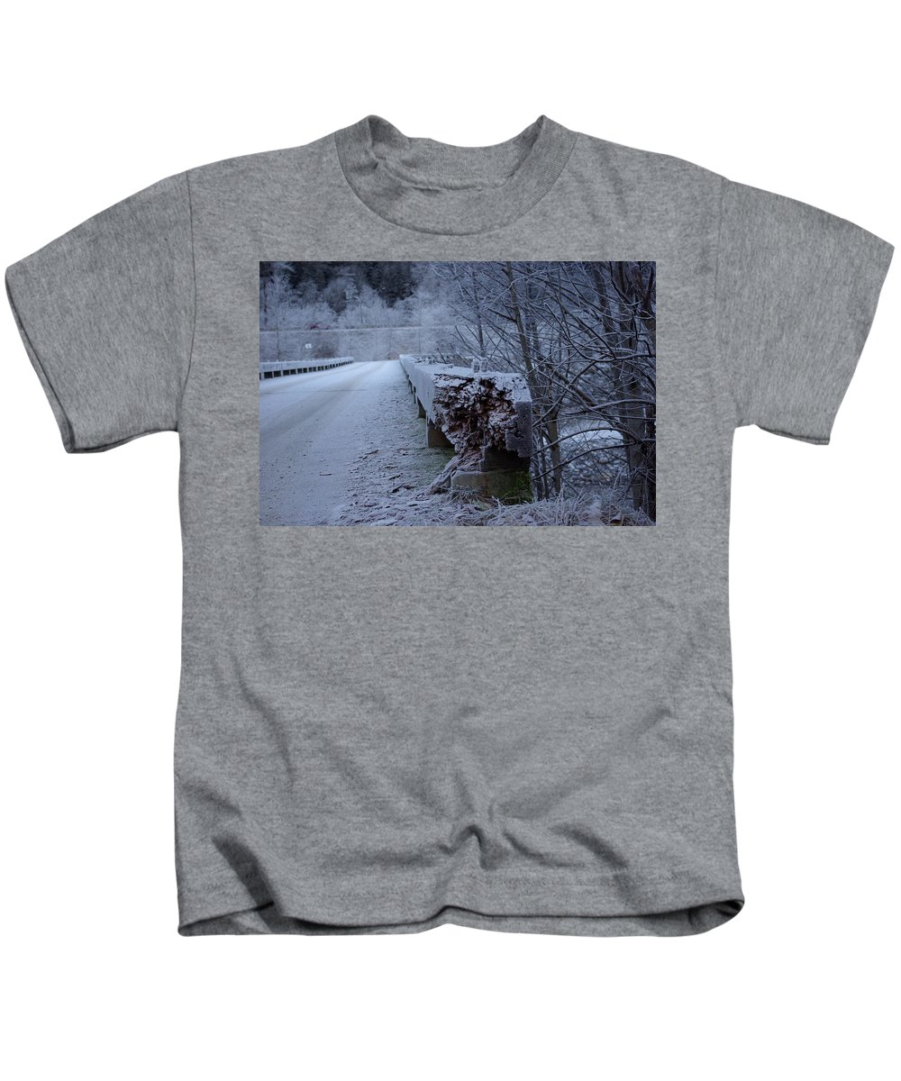 Ice Kids T-Shirt featuring the photograph Ice Bridge by Cindy Johnston