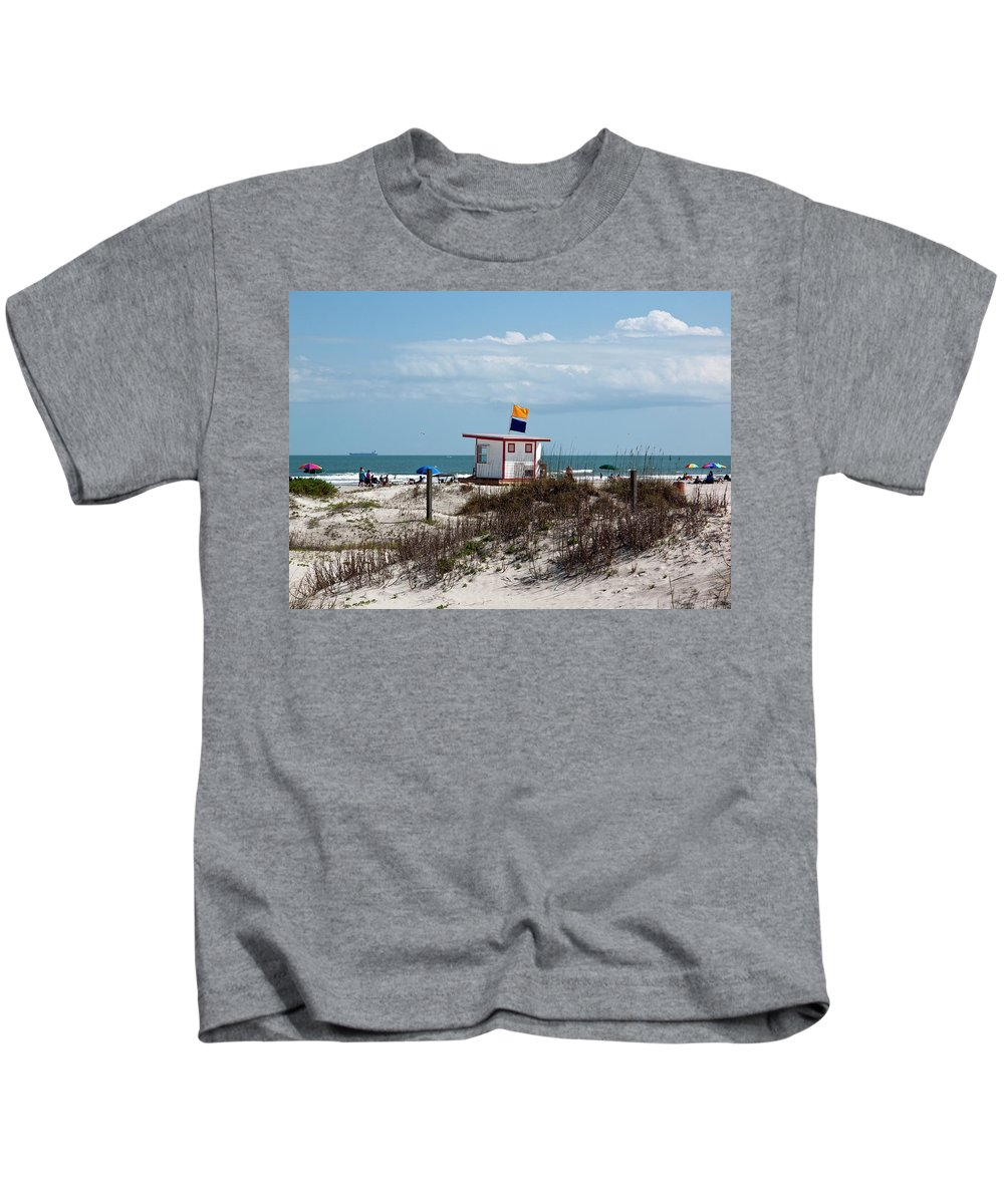 Florida Kids T-Shirt featuring the photograph Jetty Park On Cape Canaveral In Florida by Allan Hughes
