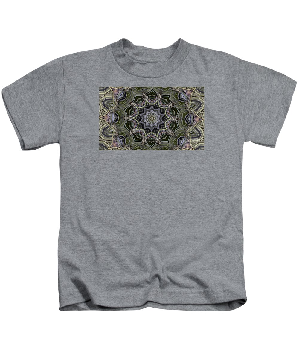 Kaleidoscope Kids T-Shirt featuring the digital art Kaleidoscope 96 by Ron Bissett