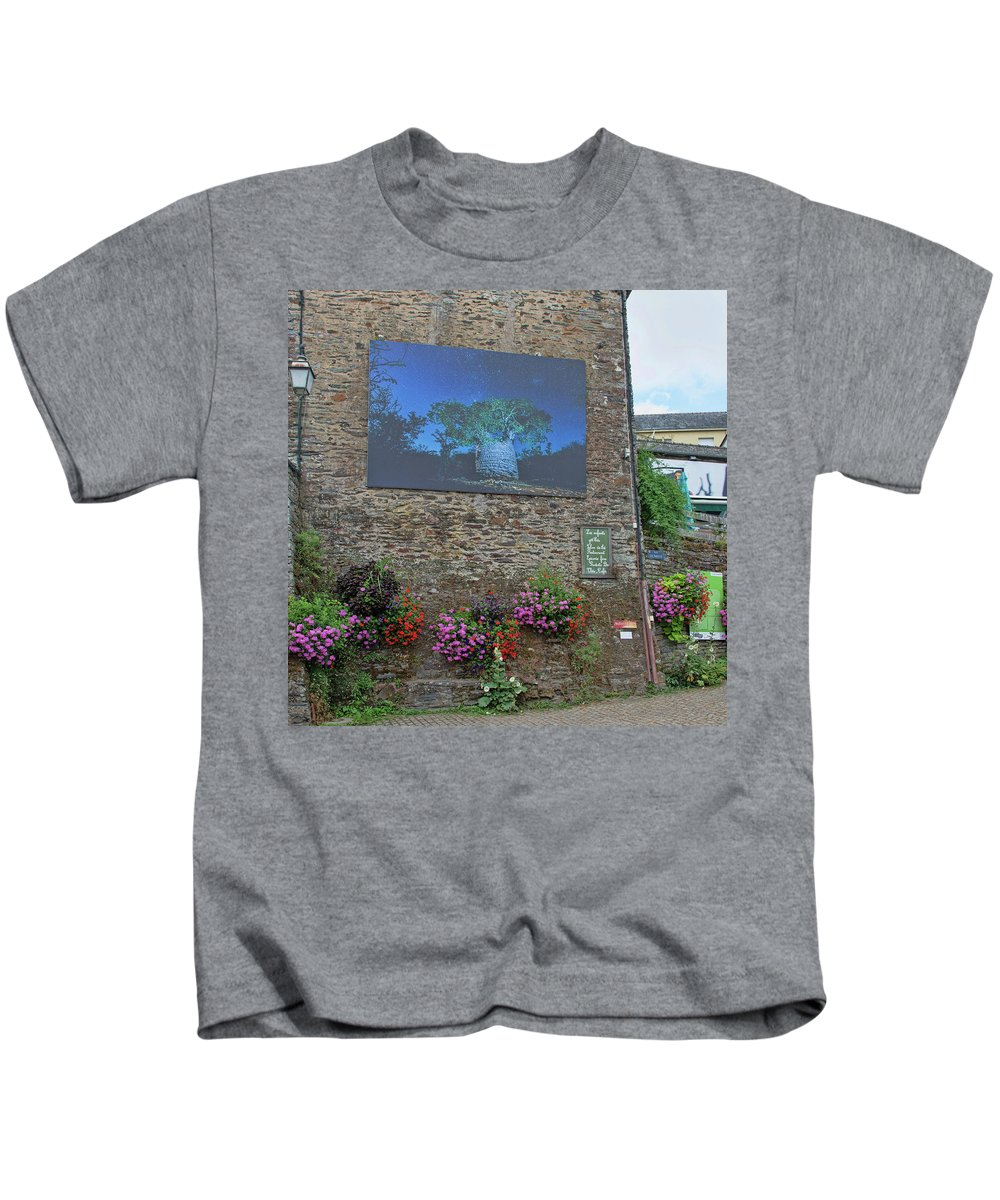 La Gacilly Kids T-Shirt featuring the photograph La Gacilly, Morbihan, Brittany, France, Photo Festival by Curt Rush