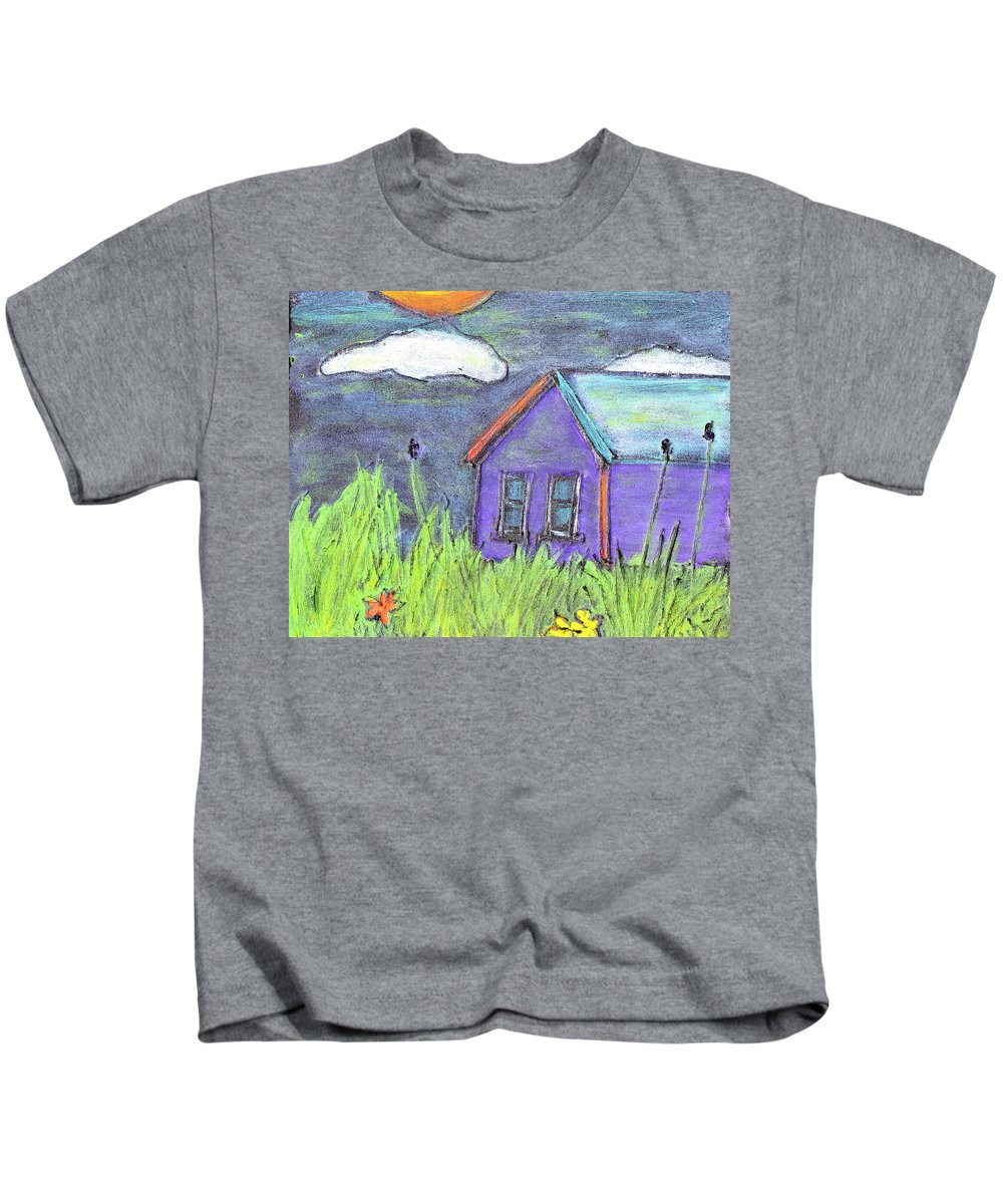 Abandoned Kids T-Shirt featuring the painting Left Behind by Wayne Potrafka