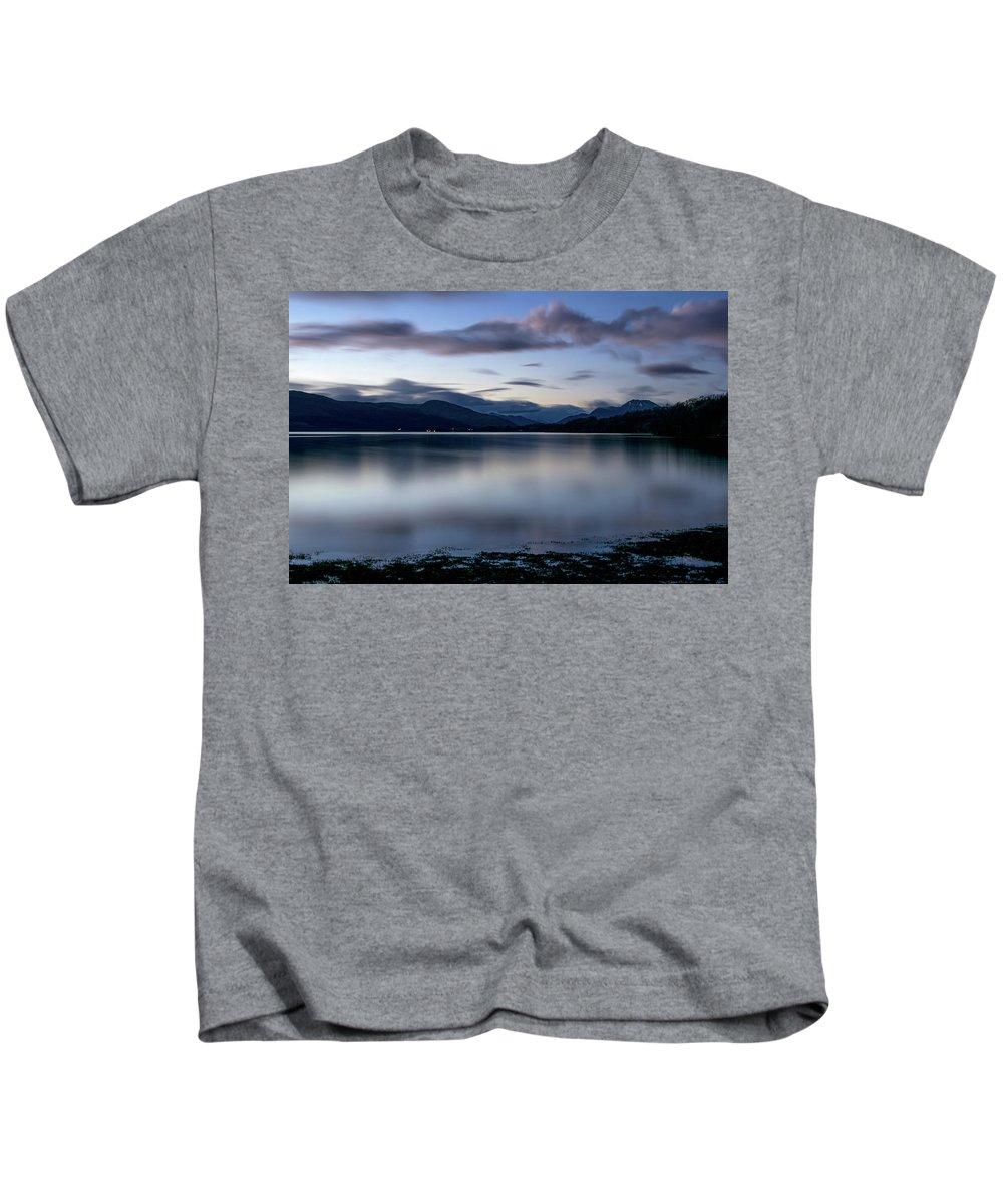 Balloch Kids T-Shirt featuring the digital art Loch Lomond by Gary Ellis