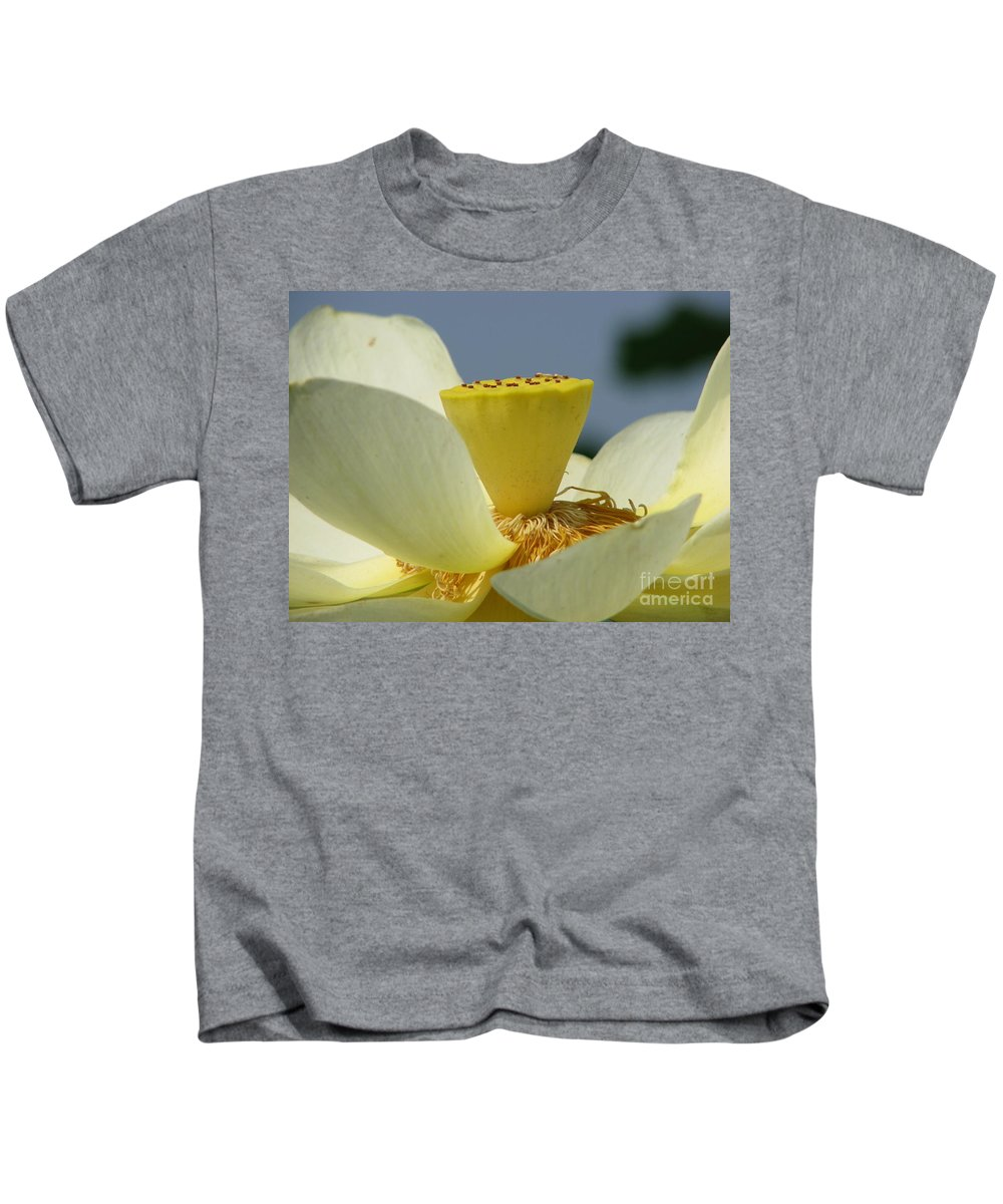 Lotus Kids T-Shirt featuring the photograph Lotus by Amanda Barcon