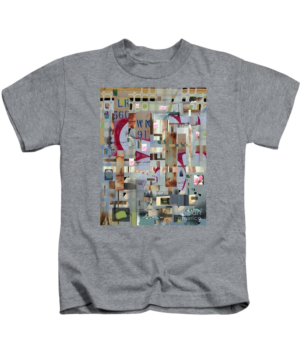 Abstract Kids T-Shirt featuring the digital art Metropolis by Marc VanDermeer