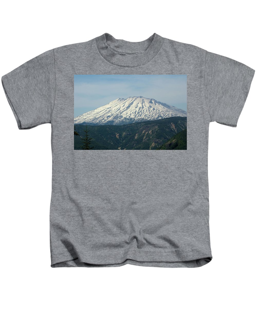 Mountains Kids T-Shirt featuring the photograph Mt St Helens by Jeff Swan