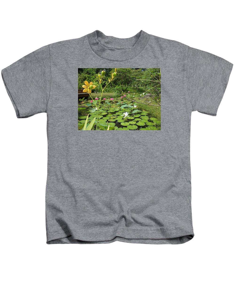 Nenufares Kids T-Shirt featuring the photograph Nenufares by Tomas Castano