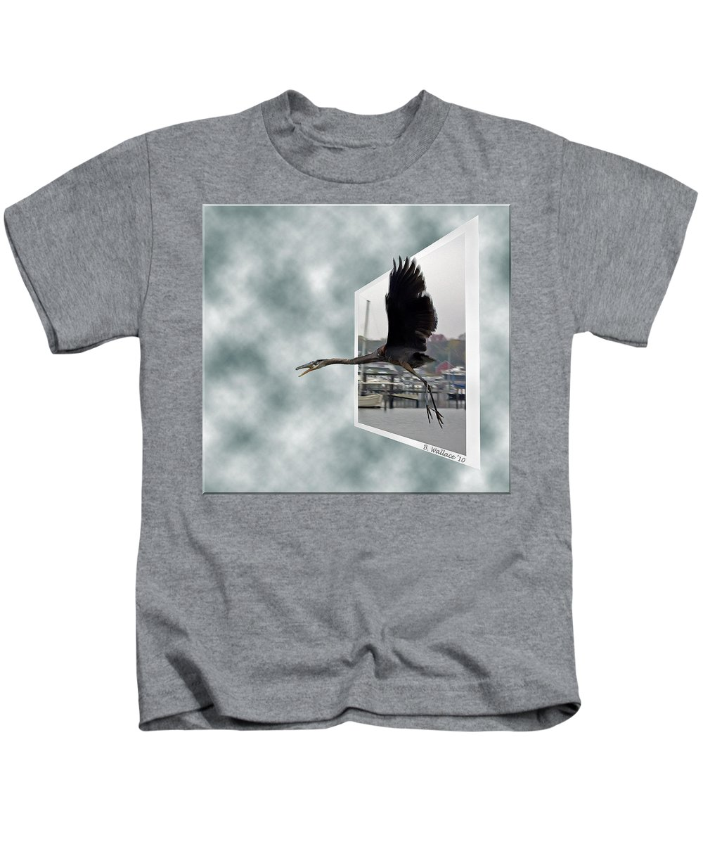 2d Kids T-Shirt featuring the photograph No Fly Zone by Brian Wallace