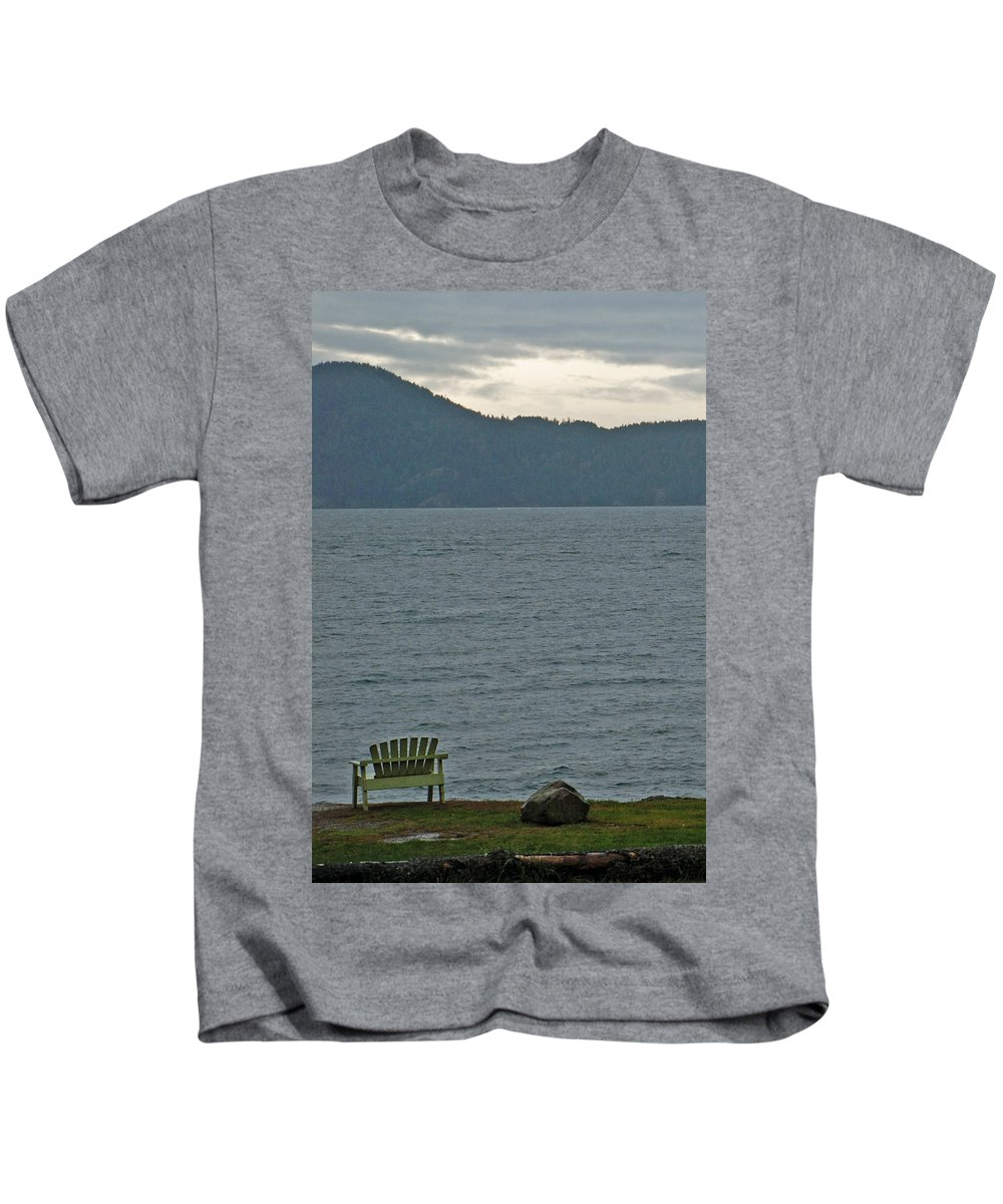 Kids T-Shirt featuring the photograph Orcas Island View by Carol Eliassen