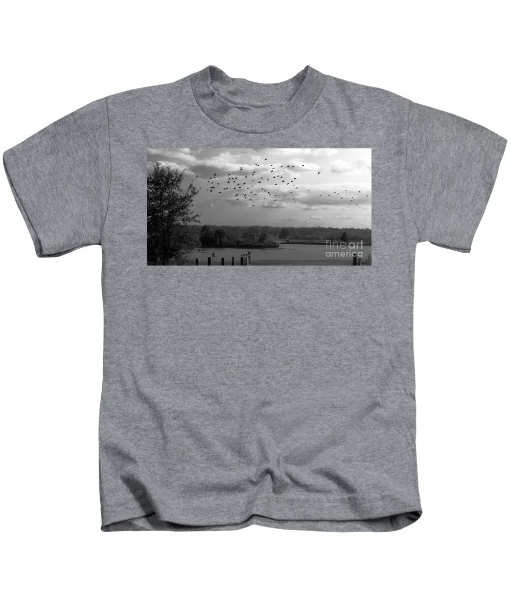 Pond Kids T-Shirt featuring the photograph Pond by Amanda Barcon