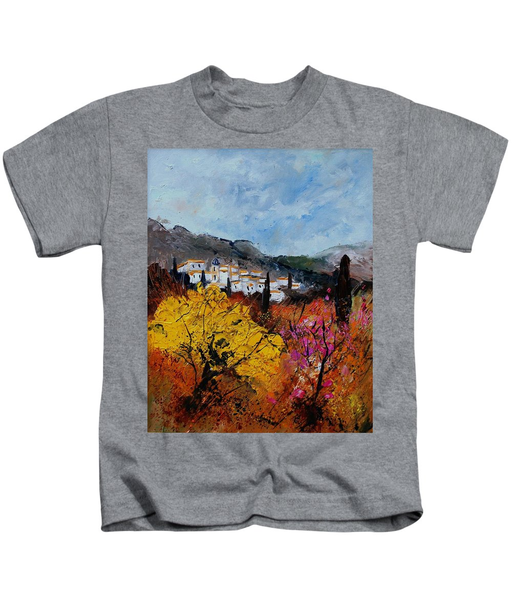 Provence Kids T-Shirt featuring the painting Provence by Pol Ledent